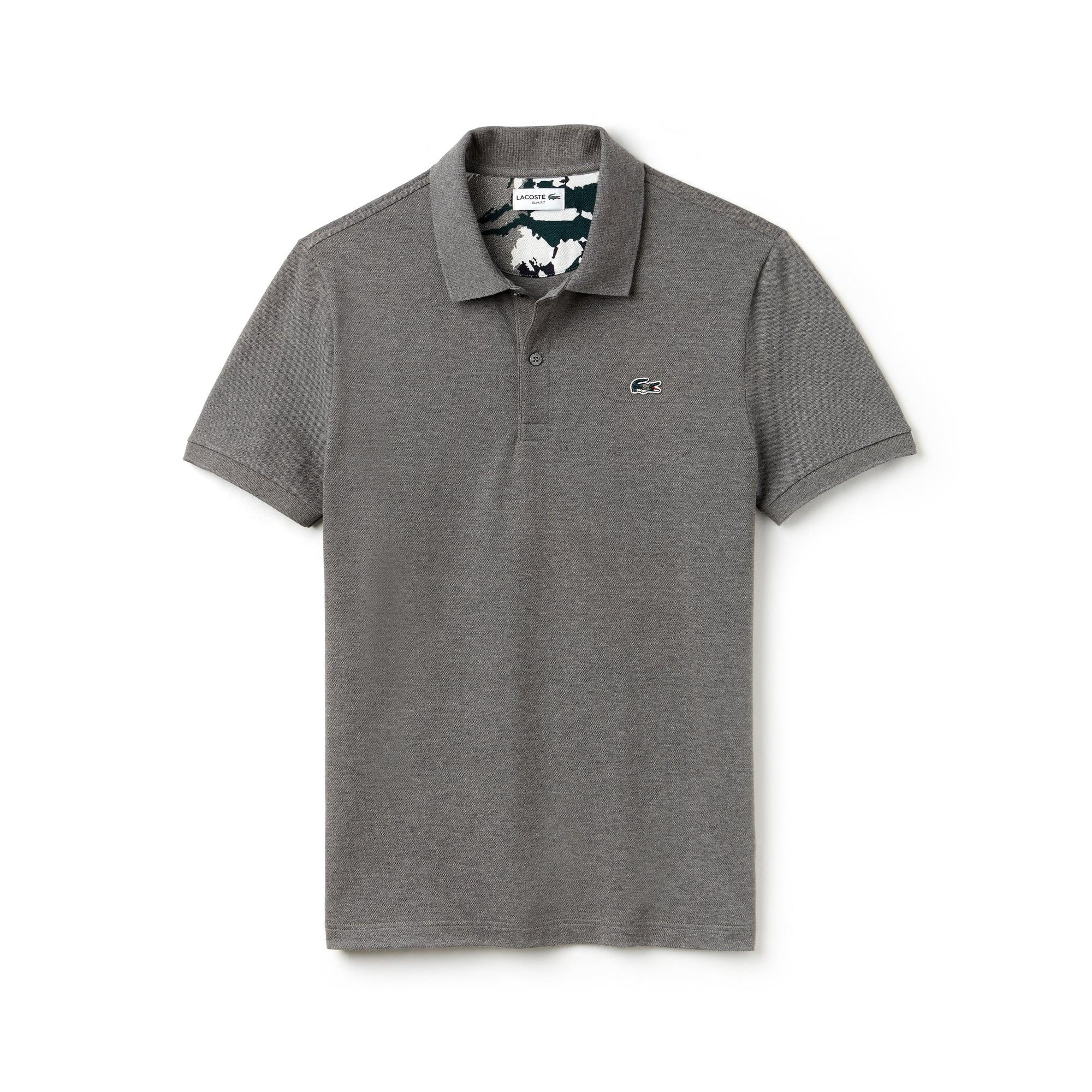 04dbb4350b Men's Lacoste Slim Fit Stretch Mini Piqué Polo