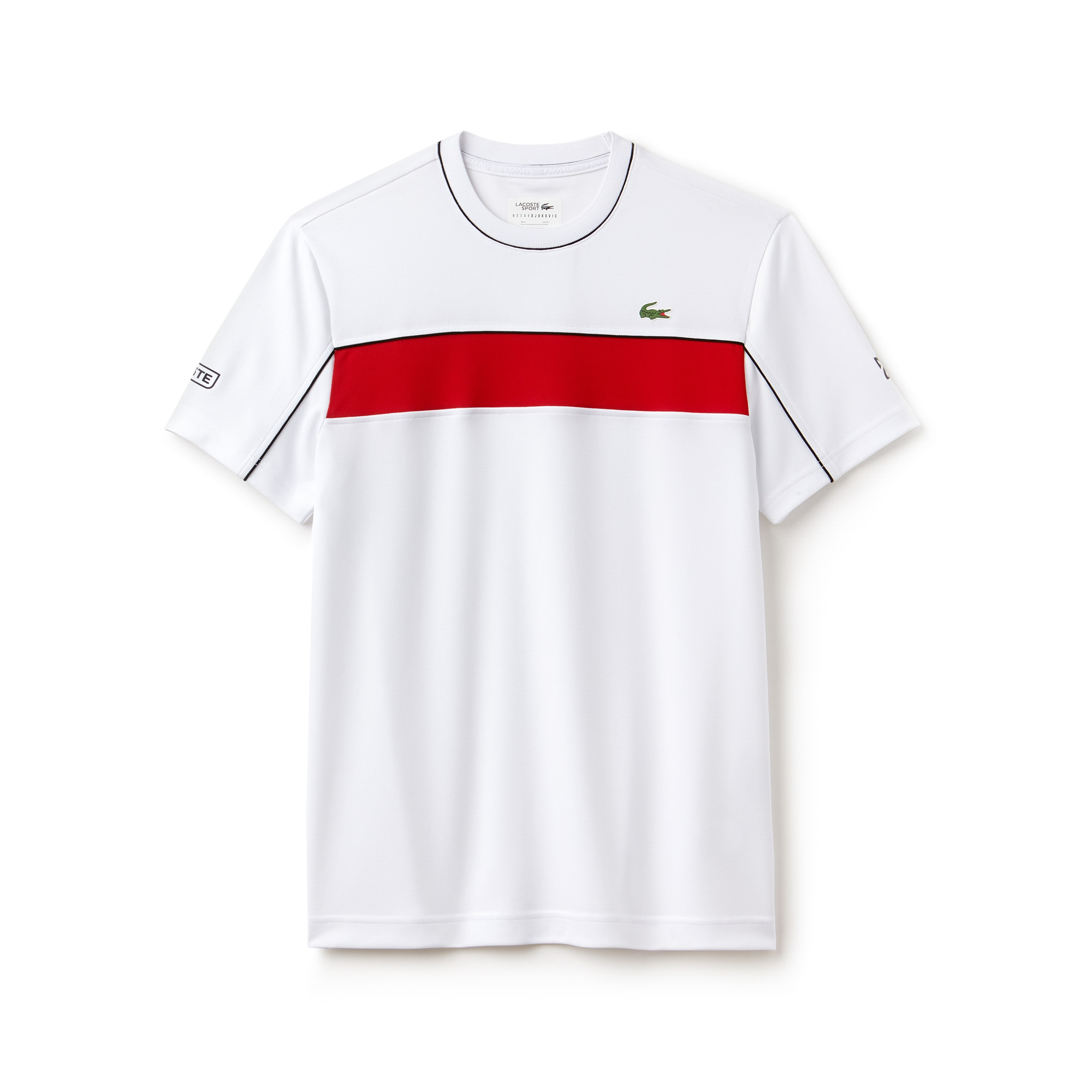 Men's LACOSTE SPORT NOVAK DJOKOVIC COLLECTION Colorblock Tech Piqué T-shirt