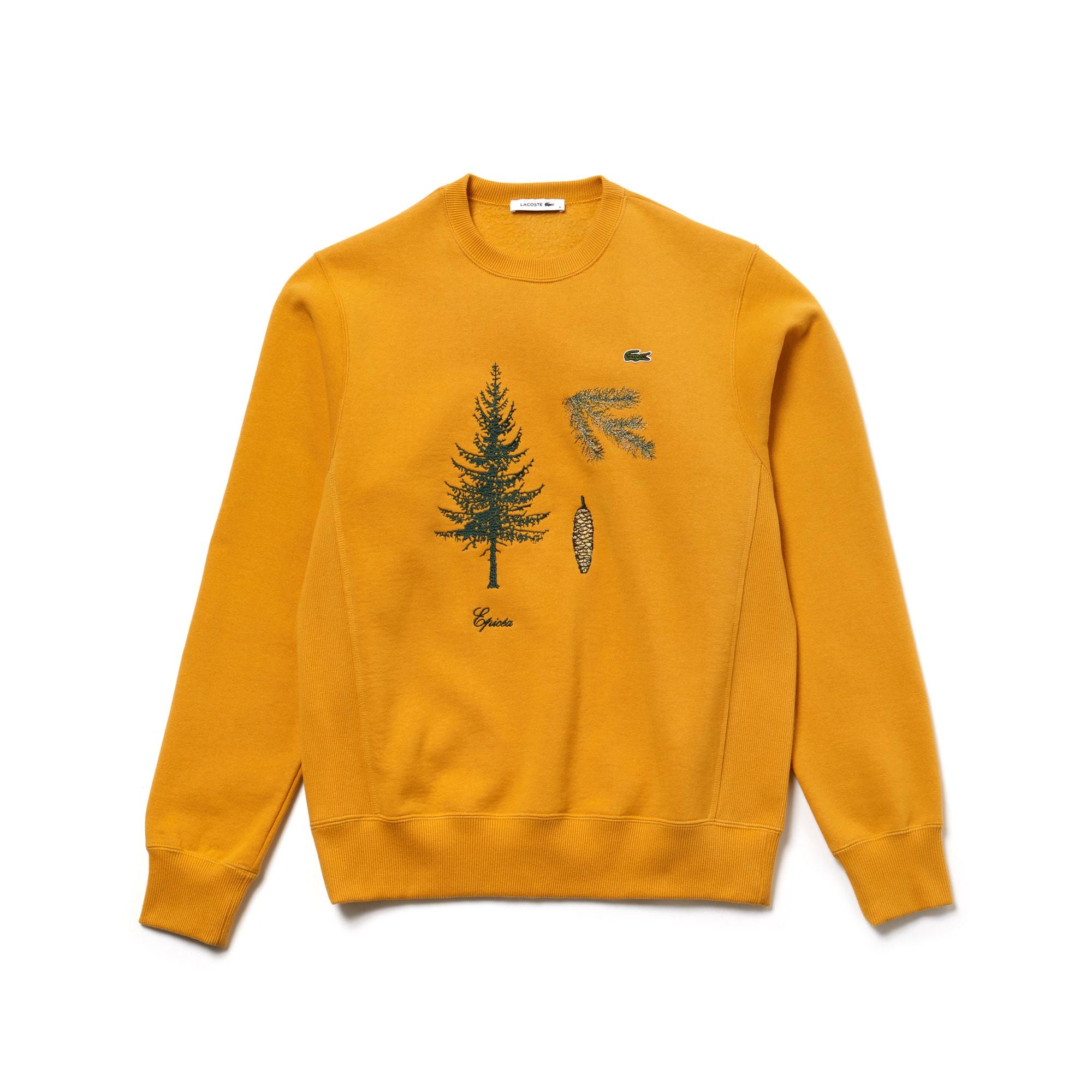 Unisex Fashion Show Embroidered Fleece Sweatshirt