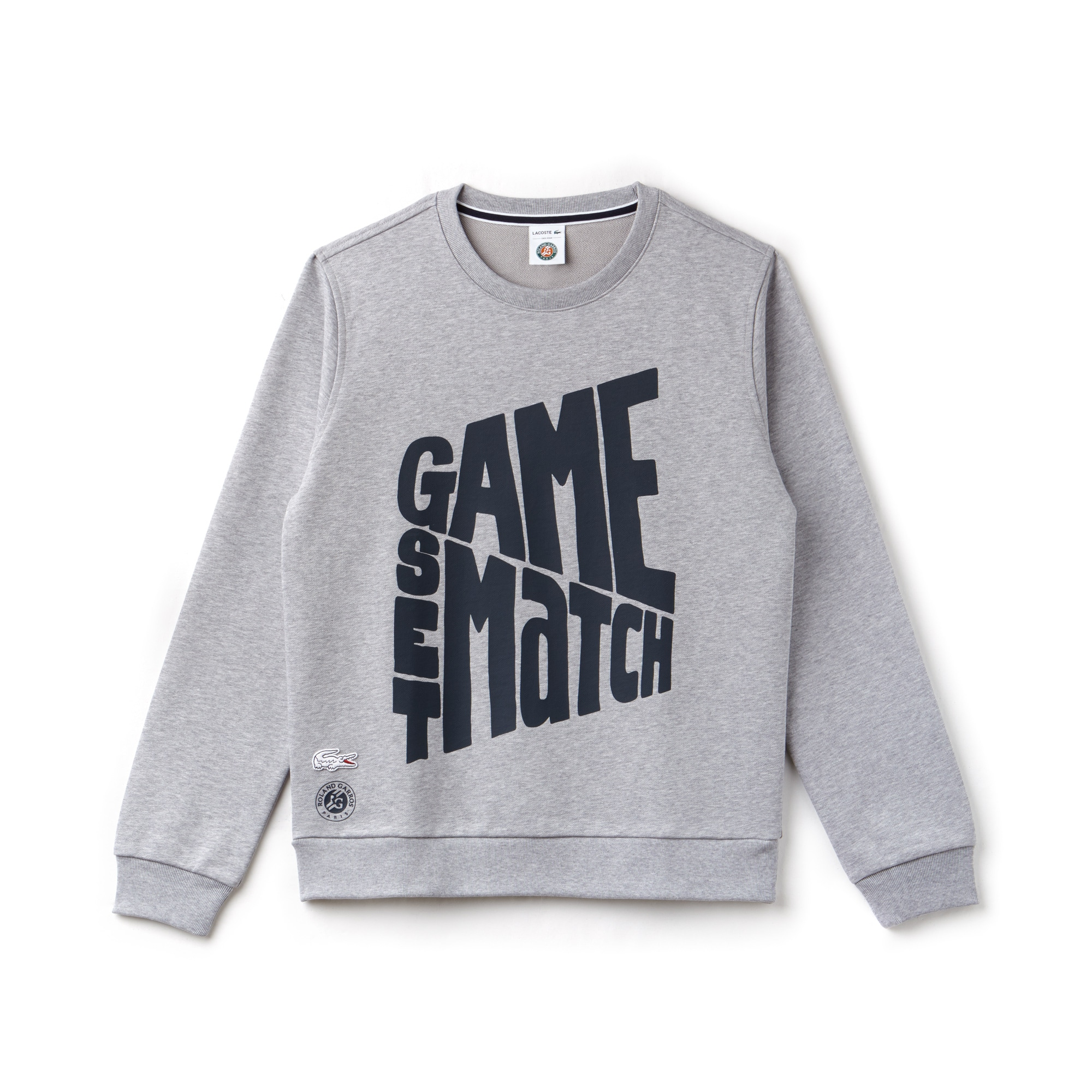 Men's Lacoste SPORT Roland Garros Edition Design Fleece Sweatshirt