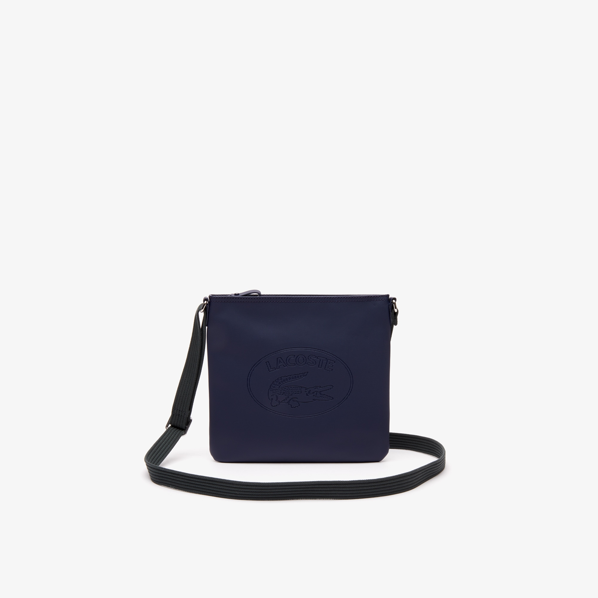 Women's Classic Coated Piqué Canvas Flat Crossover Bag