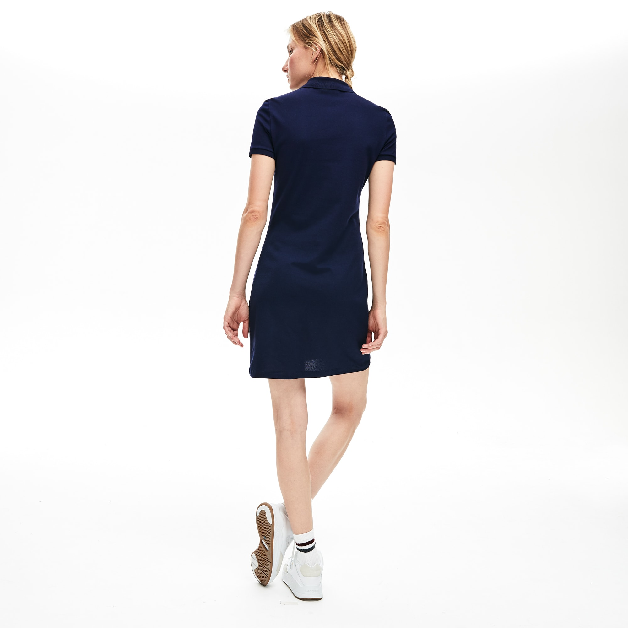Women's Stretch Cotton Mini Piqué Polo Dress
