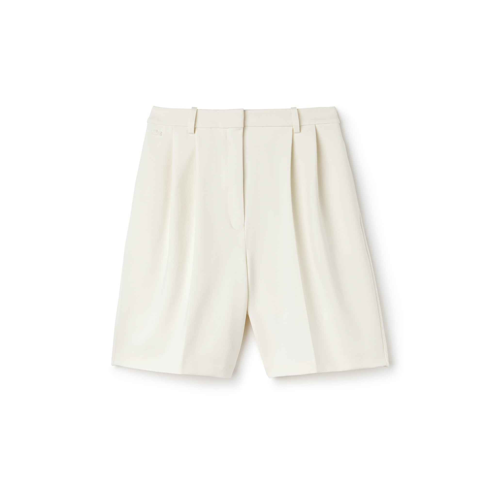 Women's Pleated Stretch Milano Knit Bermuda Shorts