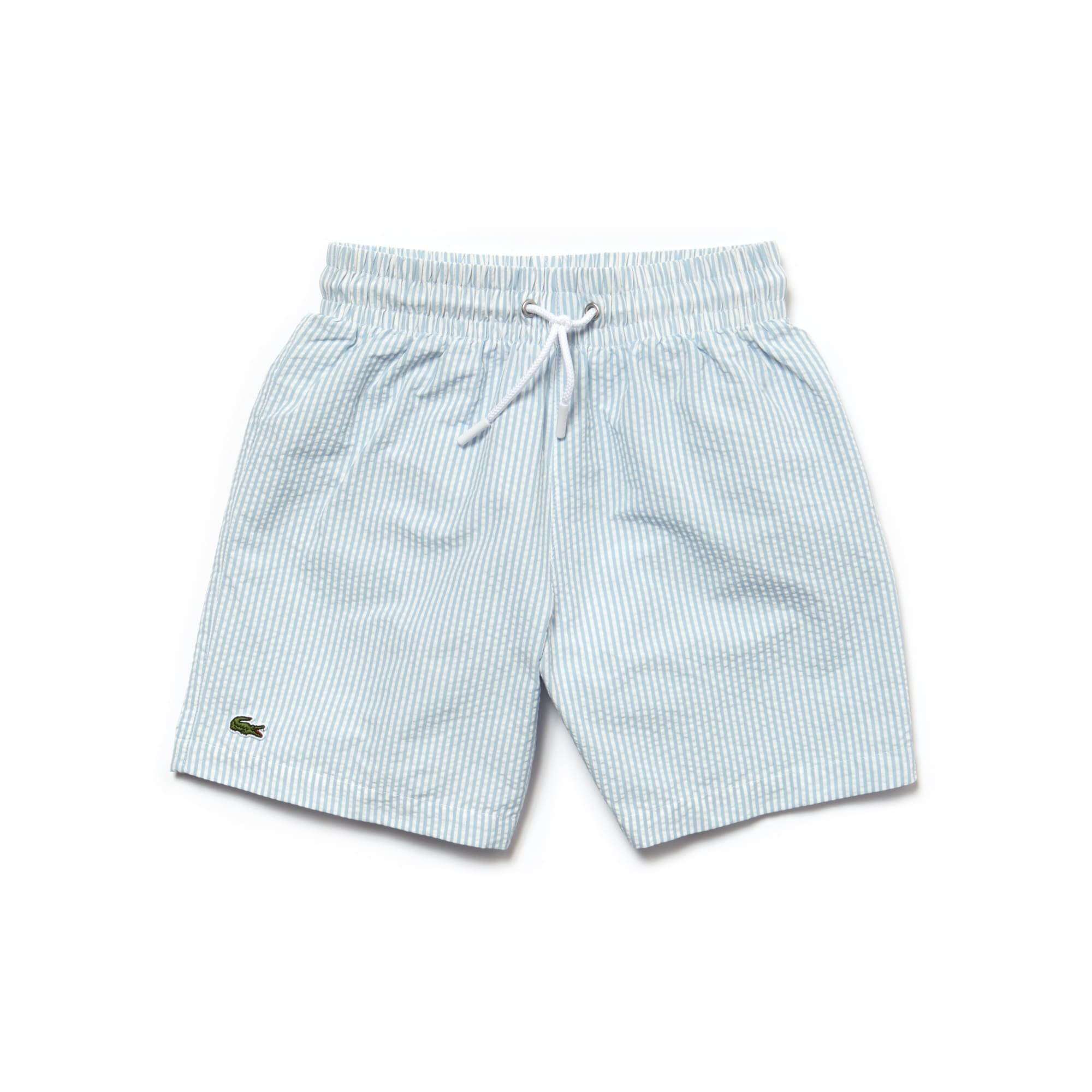 Boys' Cotton Seersucker Swimming Trunks