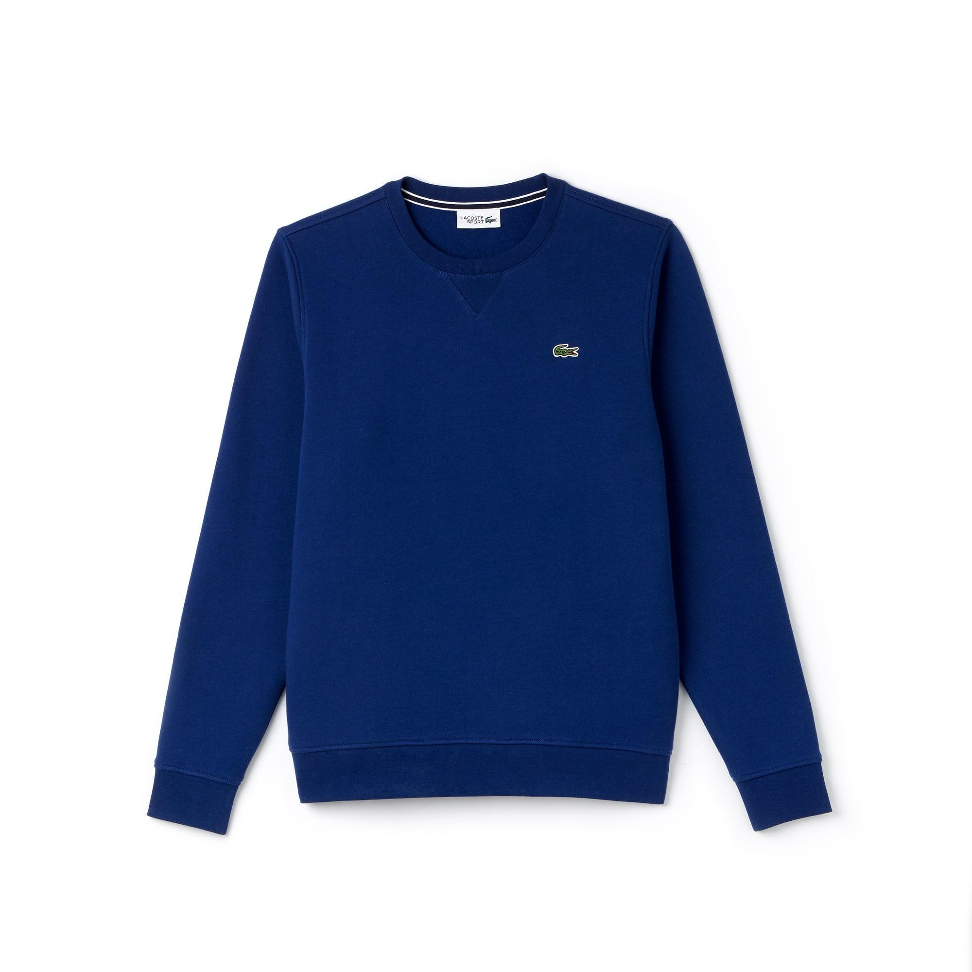 Men's Lacoste SPORT crew neck sweatshirt in solid fleece