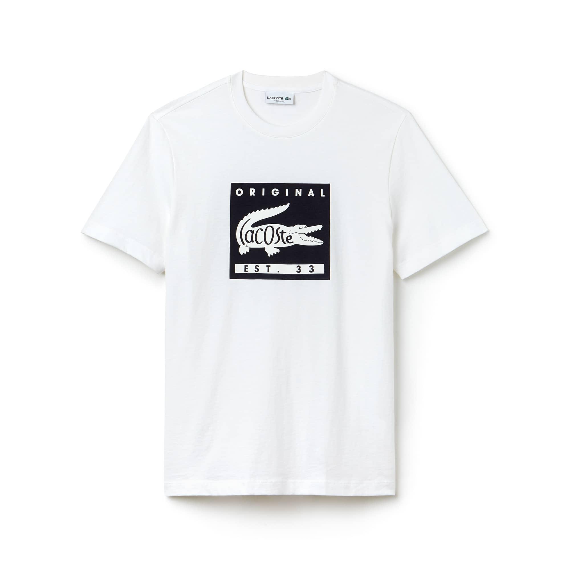 T-shirt col rond en jersey avec marquage Lacoste Original