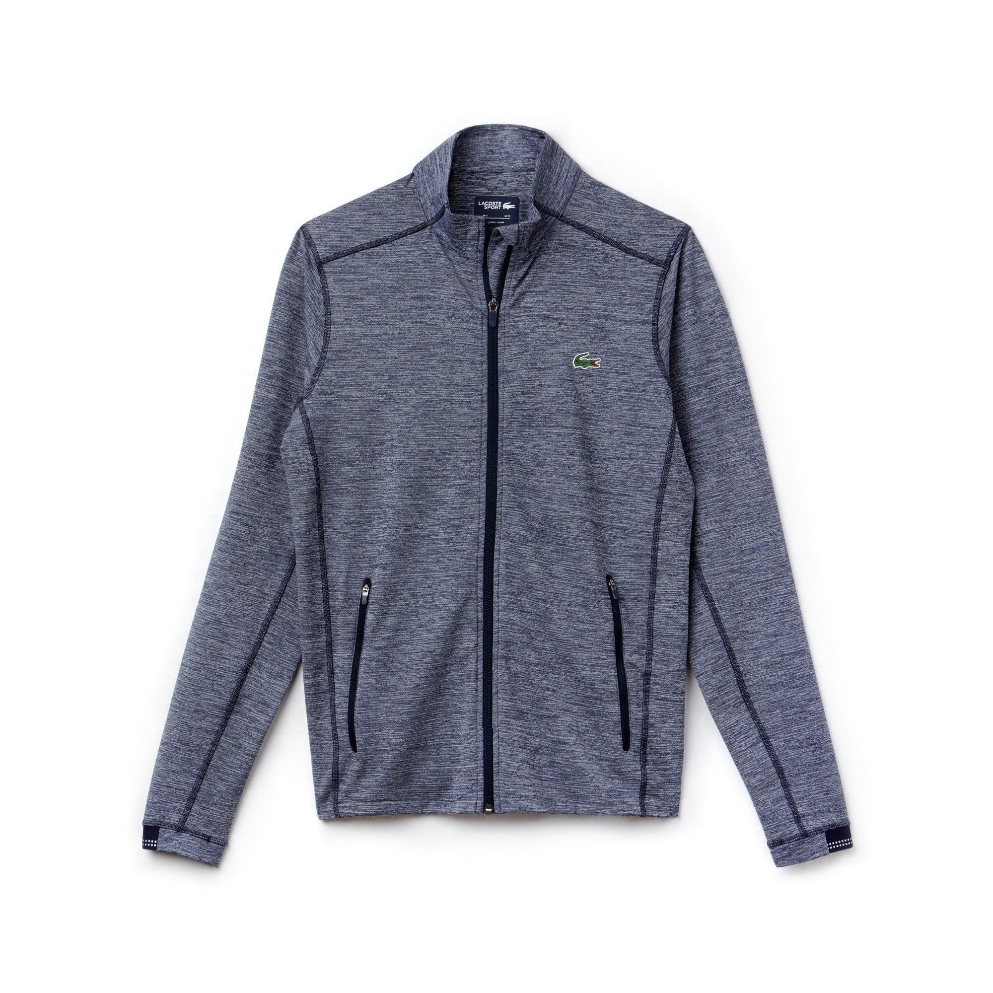 Sweatshirt zippé Golf Lacoste SPORT en midlayer flammé technique