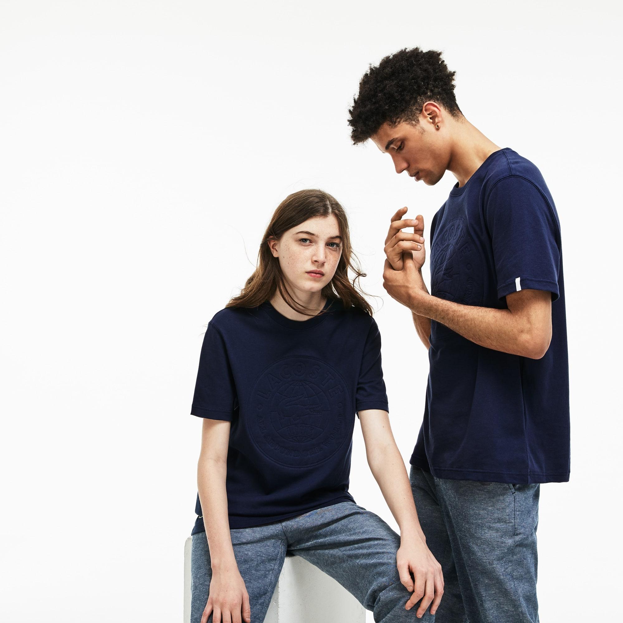 T-shirt col rond unisexe Lacoste LIVE en jersey avec badge oversize