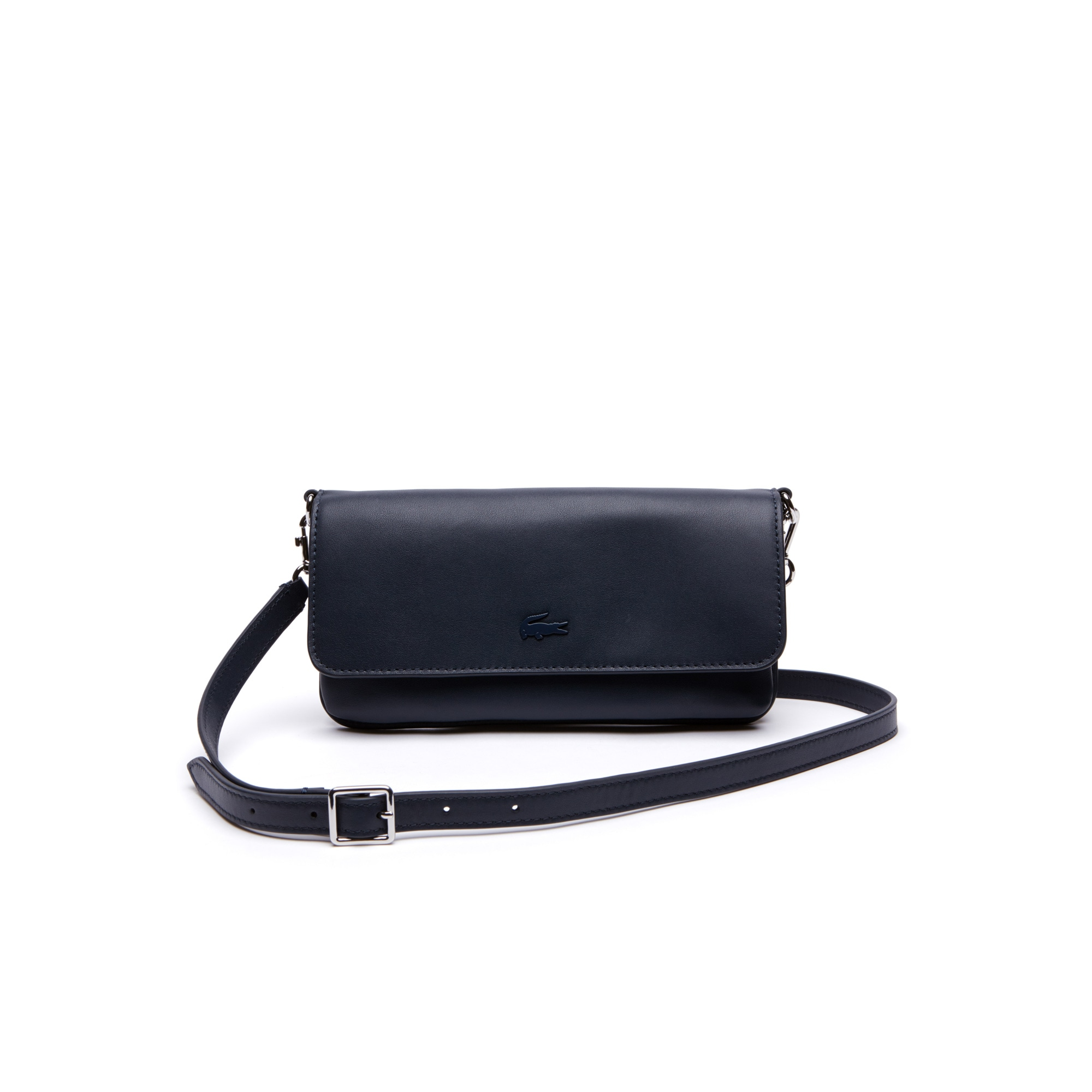 Portefeuille pochette Purity en cuir souple monochrome 6 cartes
