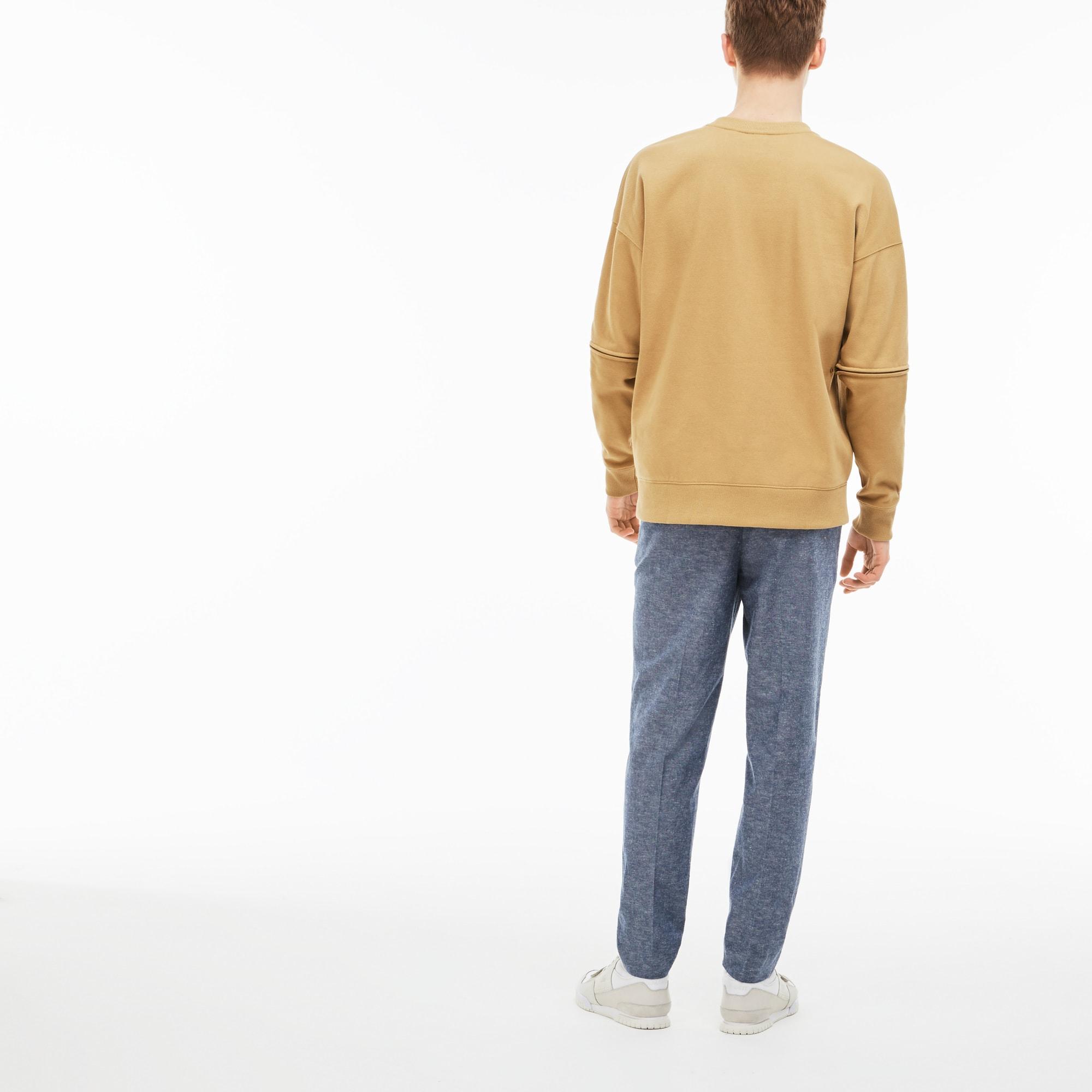 Uni En À Pantalon Lacoste Live Chambray Chino Pinces 0qP5XA