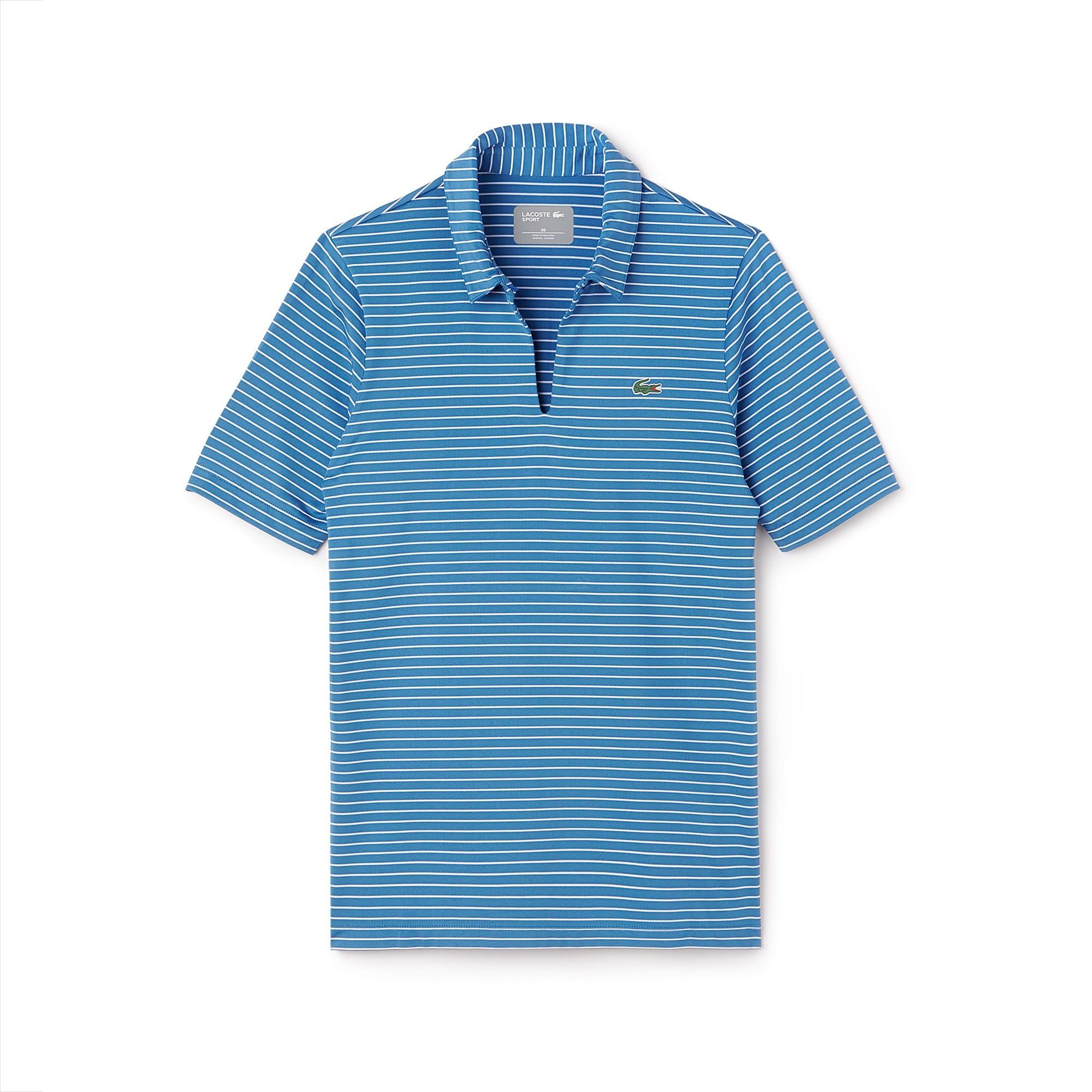 Polo encolure goutte Golf Lacoste SPORT en jersey technique rayé