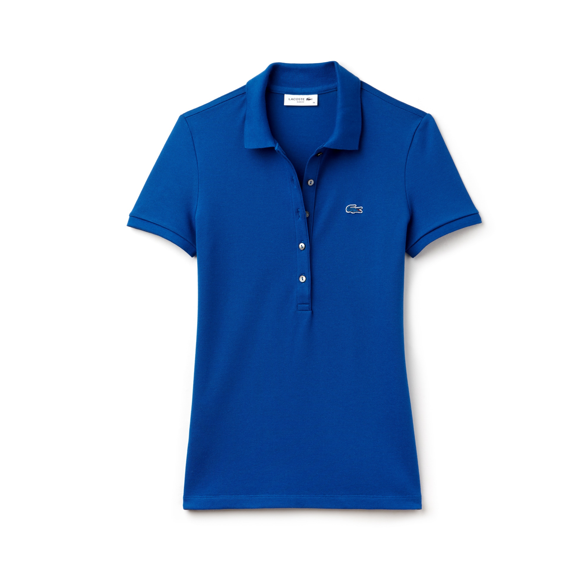 Polo slim fit Lacoste en mini piqué de coton stretch uni
