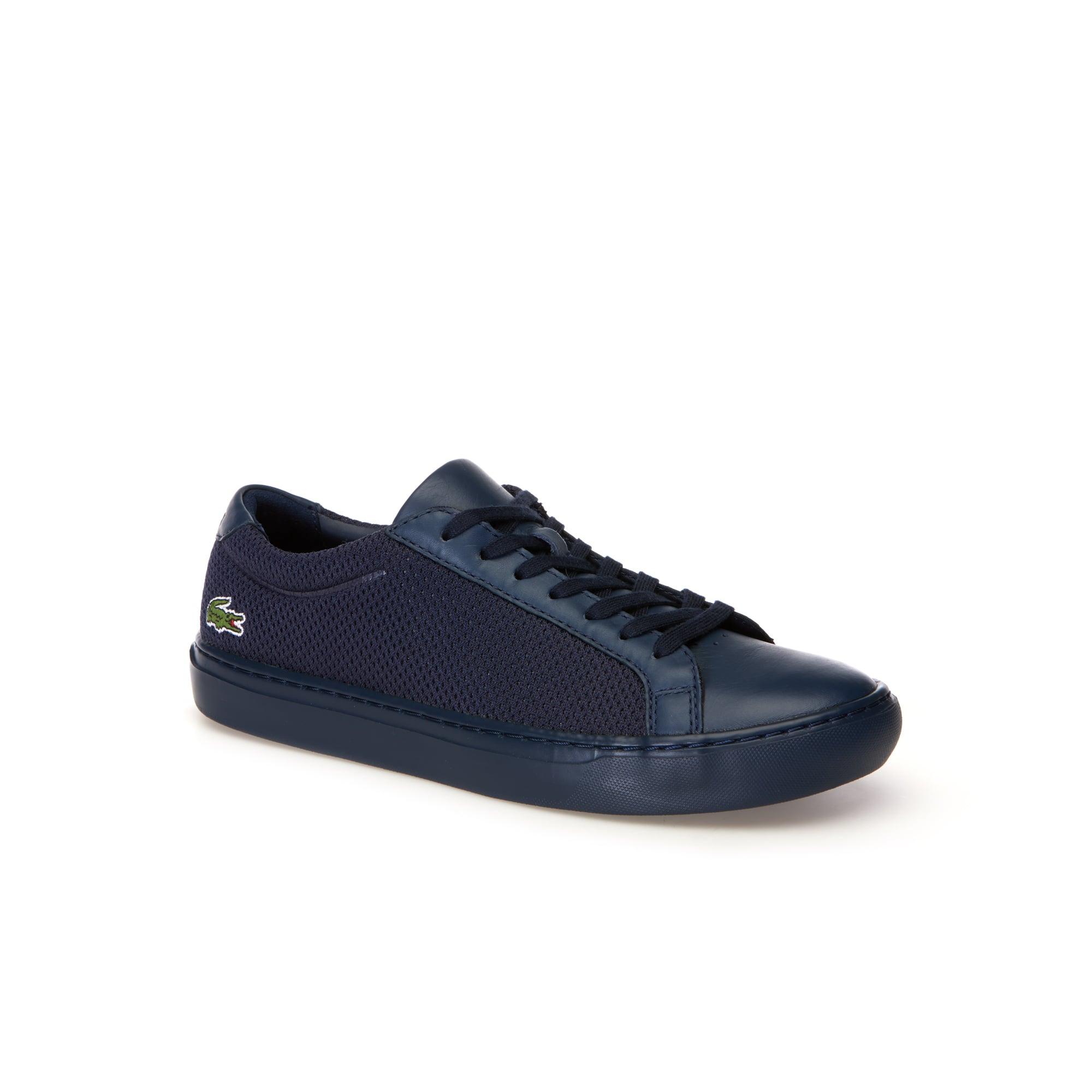 Sneakers L.12.12 LIGHT-WT homme en cuir et textile