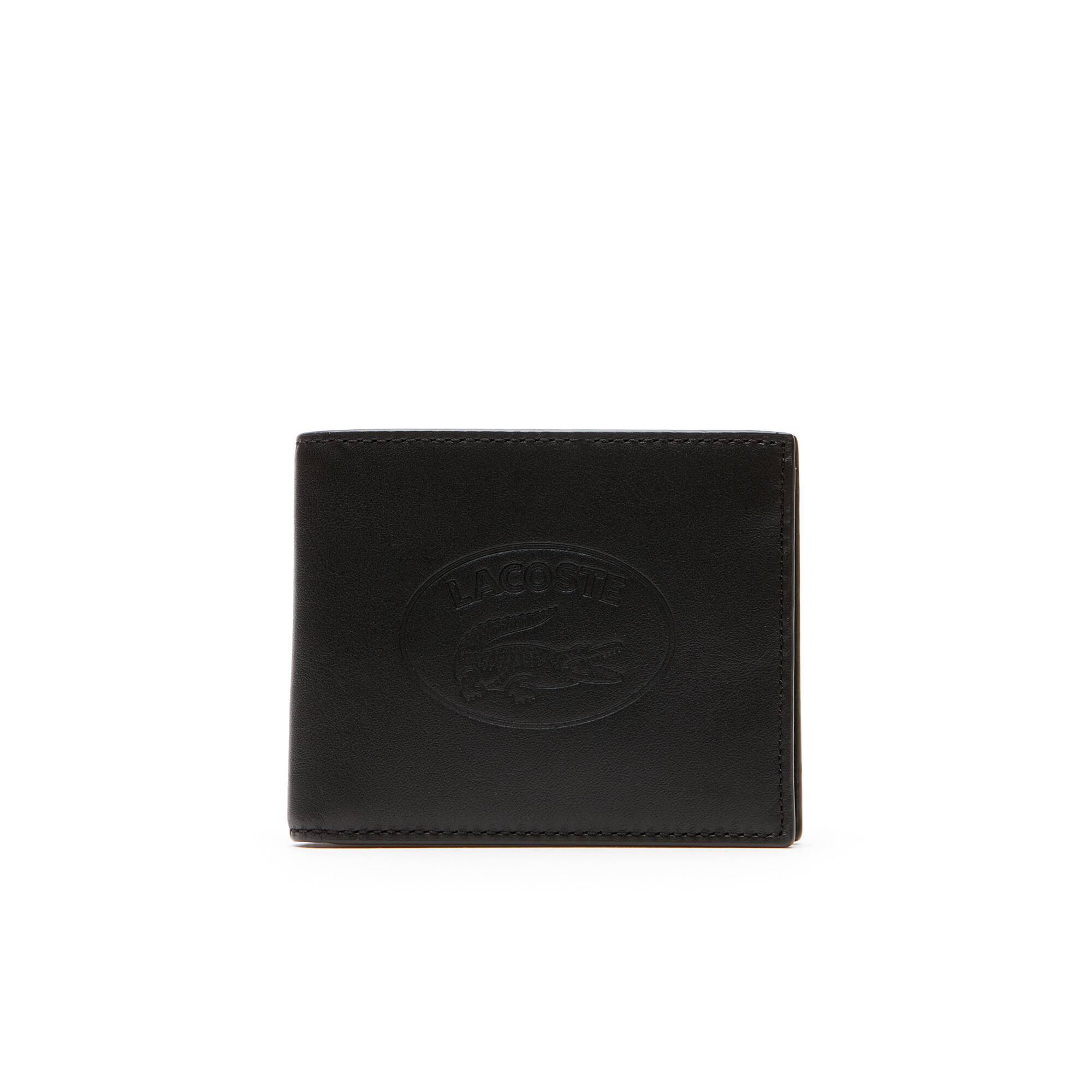 Portefeuille L.12.12 cuir Casual avec marquage embossé 6 cartes