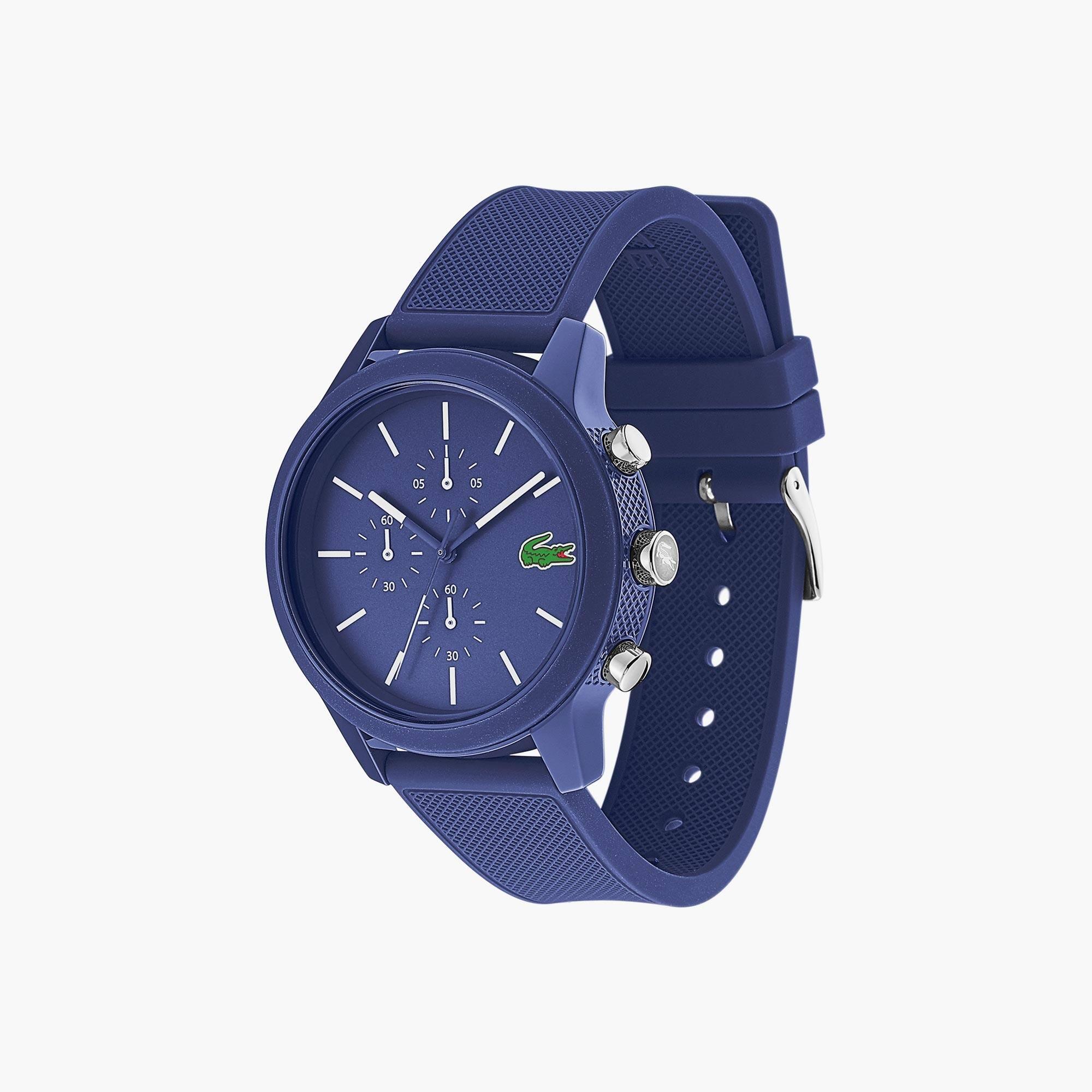Lacoste Silicone Montre 12 12 Bleu Homme Avec Bracelet 4RcqA35jL