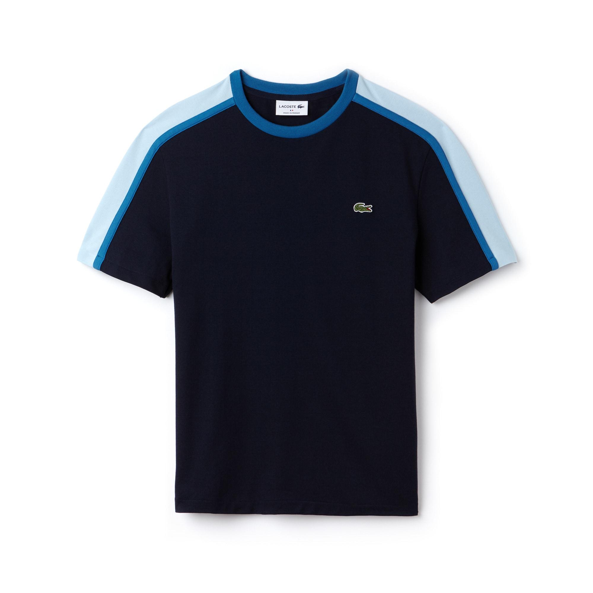 T-shirt col rond Made in France en piqué technique color block