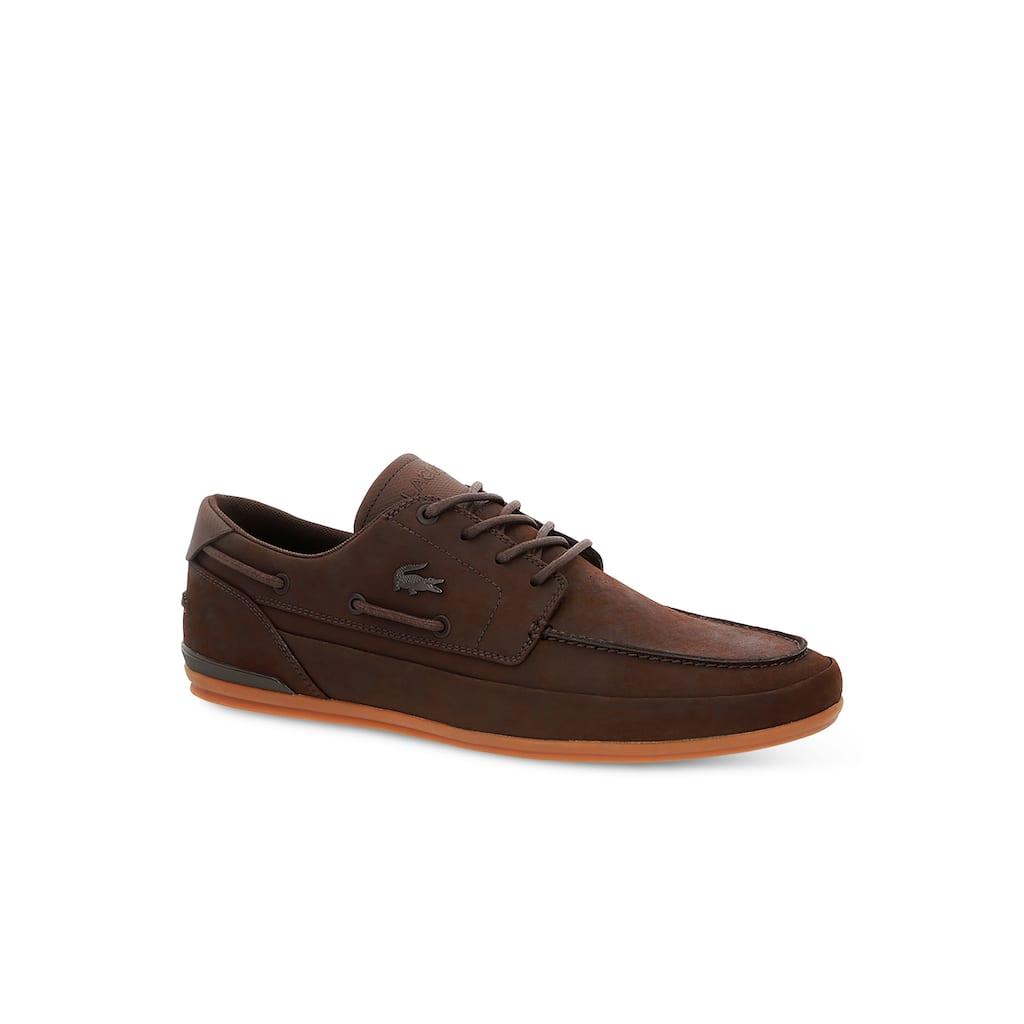 869aab37ae Chaussures bateau Marina homme en cuir | LACOSTE