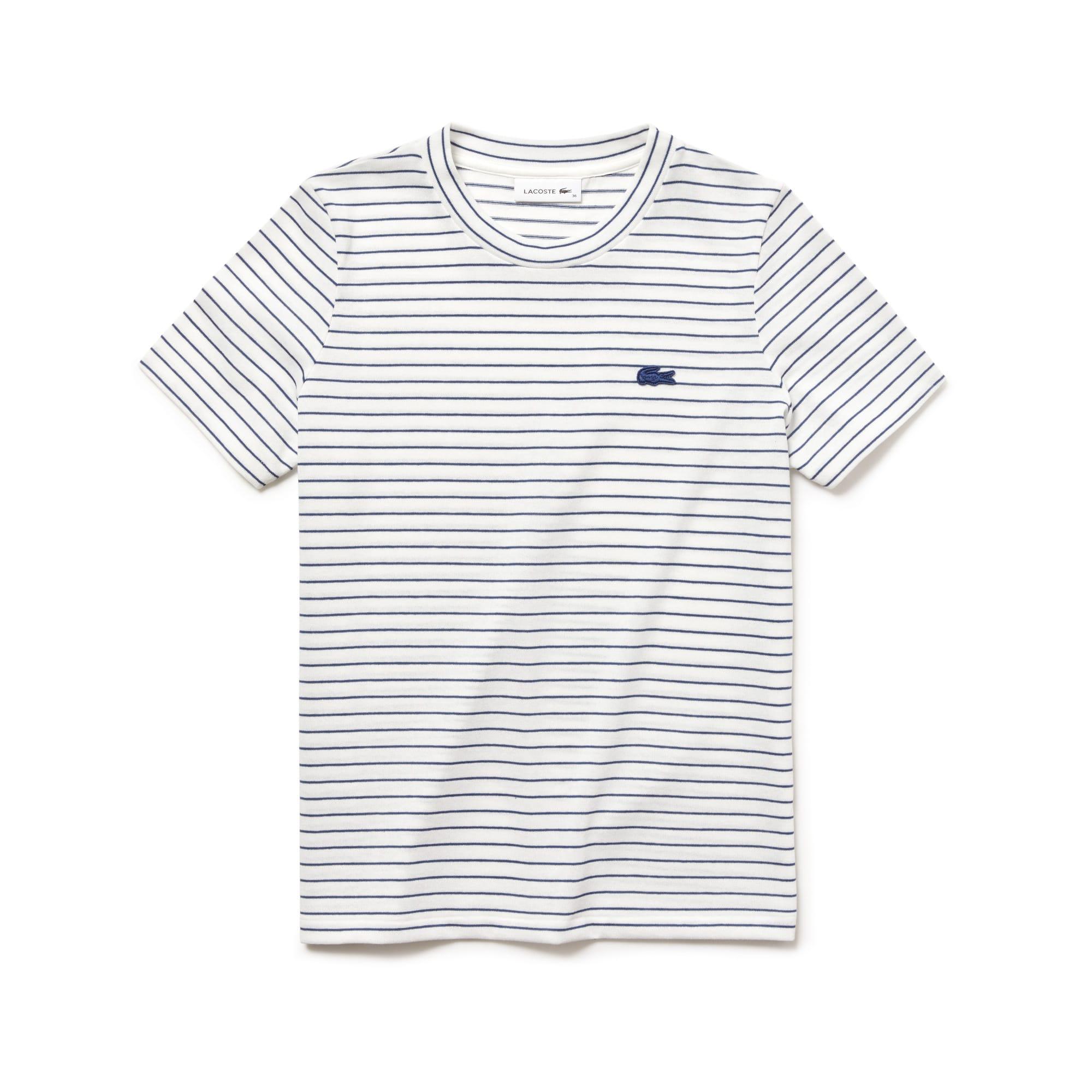 T-shirt col rond en jersey de coton rayé