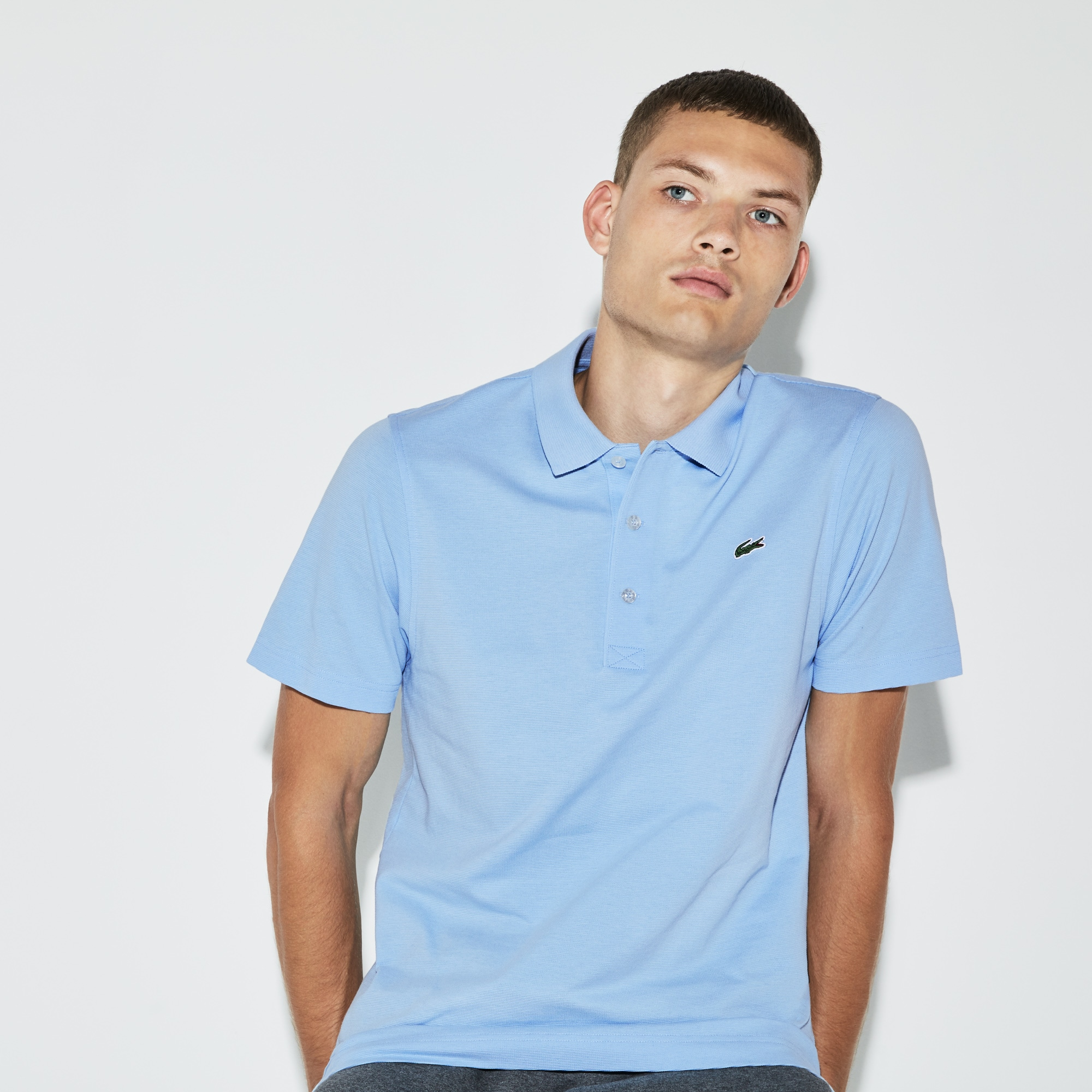 801b88edeb Polo regular fit Tennis Lacoste SPORT en maille ultra-légère ...