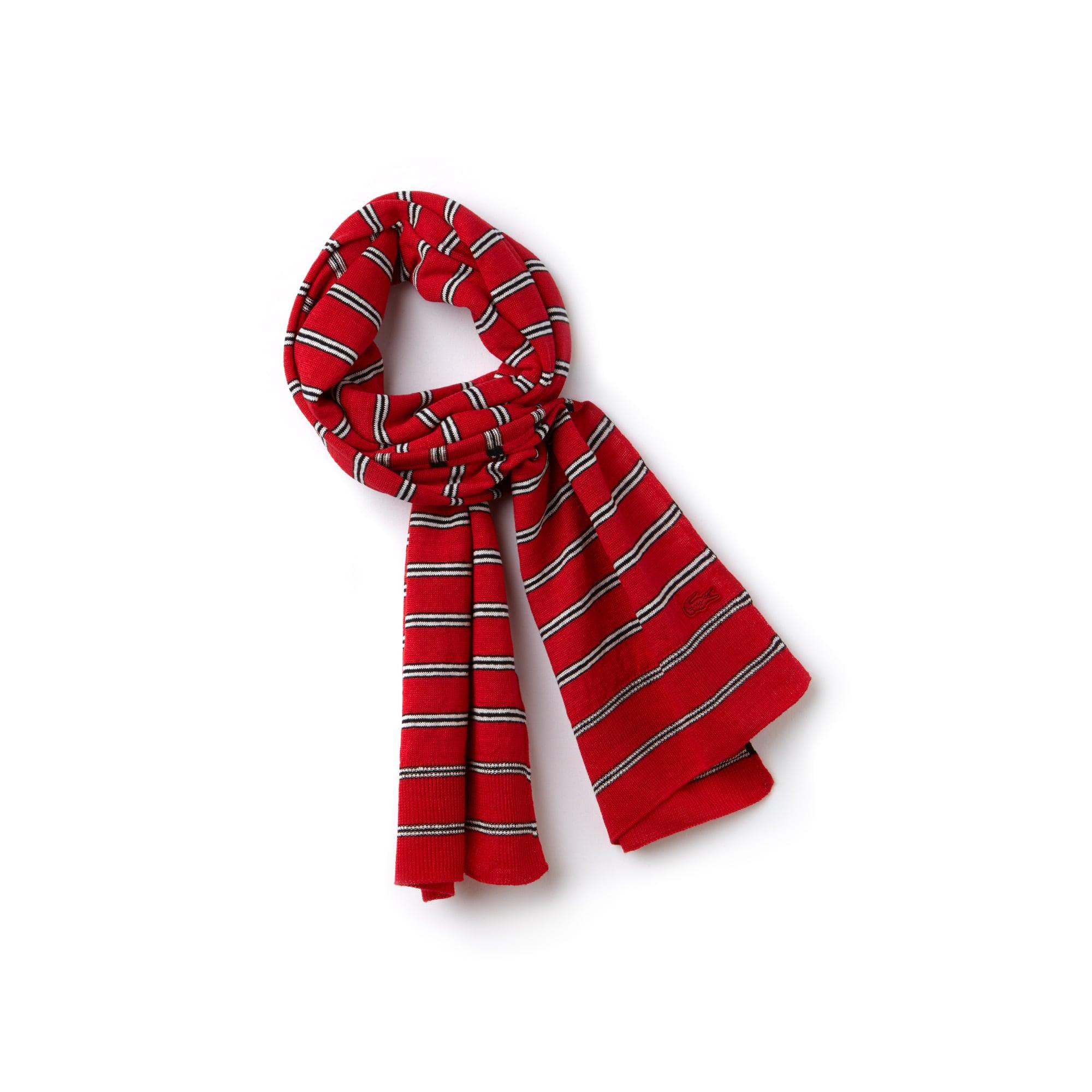 Écharpe en jersey de coton et lin à rayures