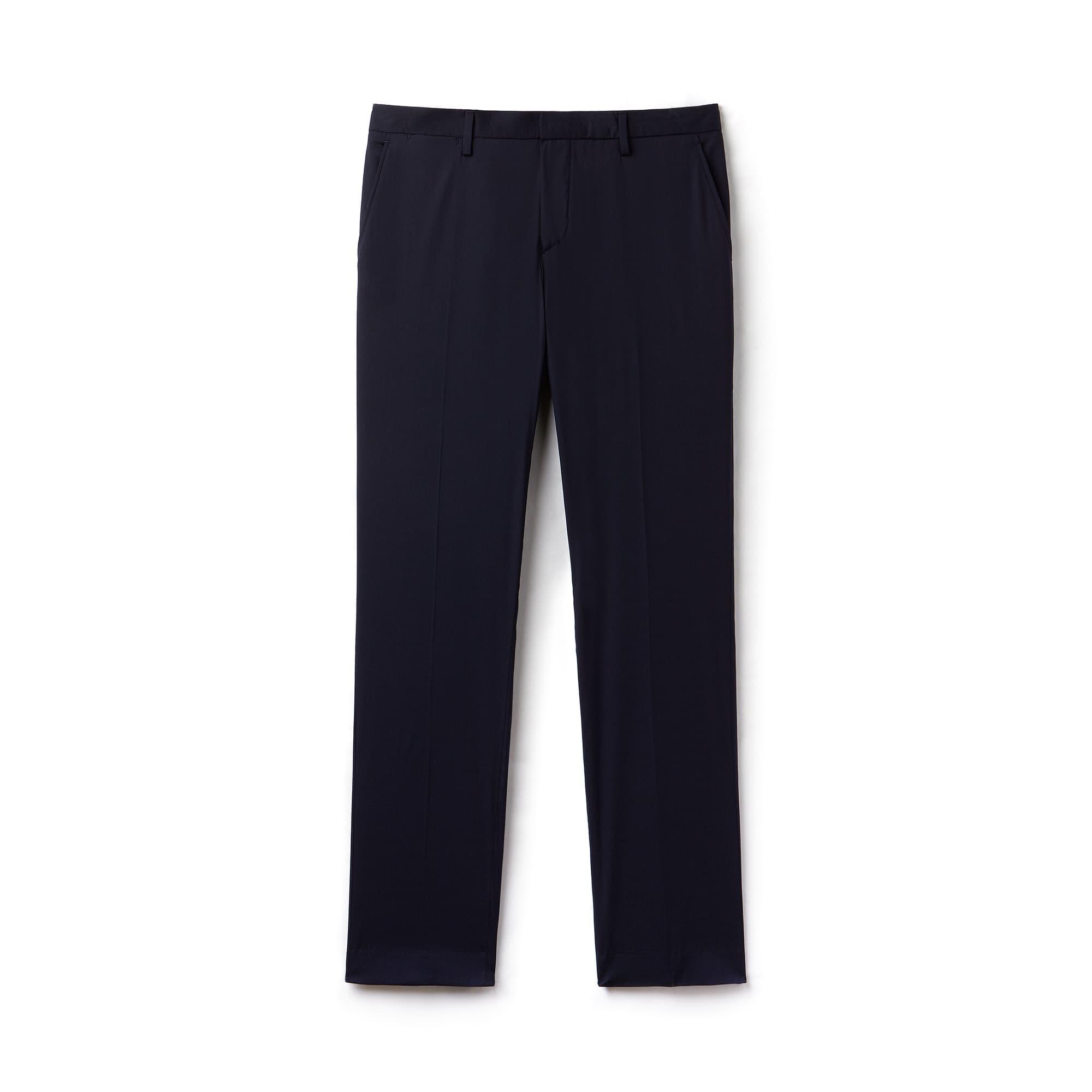 Pantalon chino à pinces regular fit Lacoste MOTION en popeline stretch unie