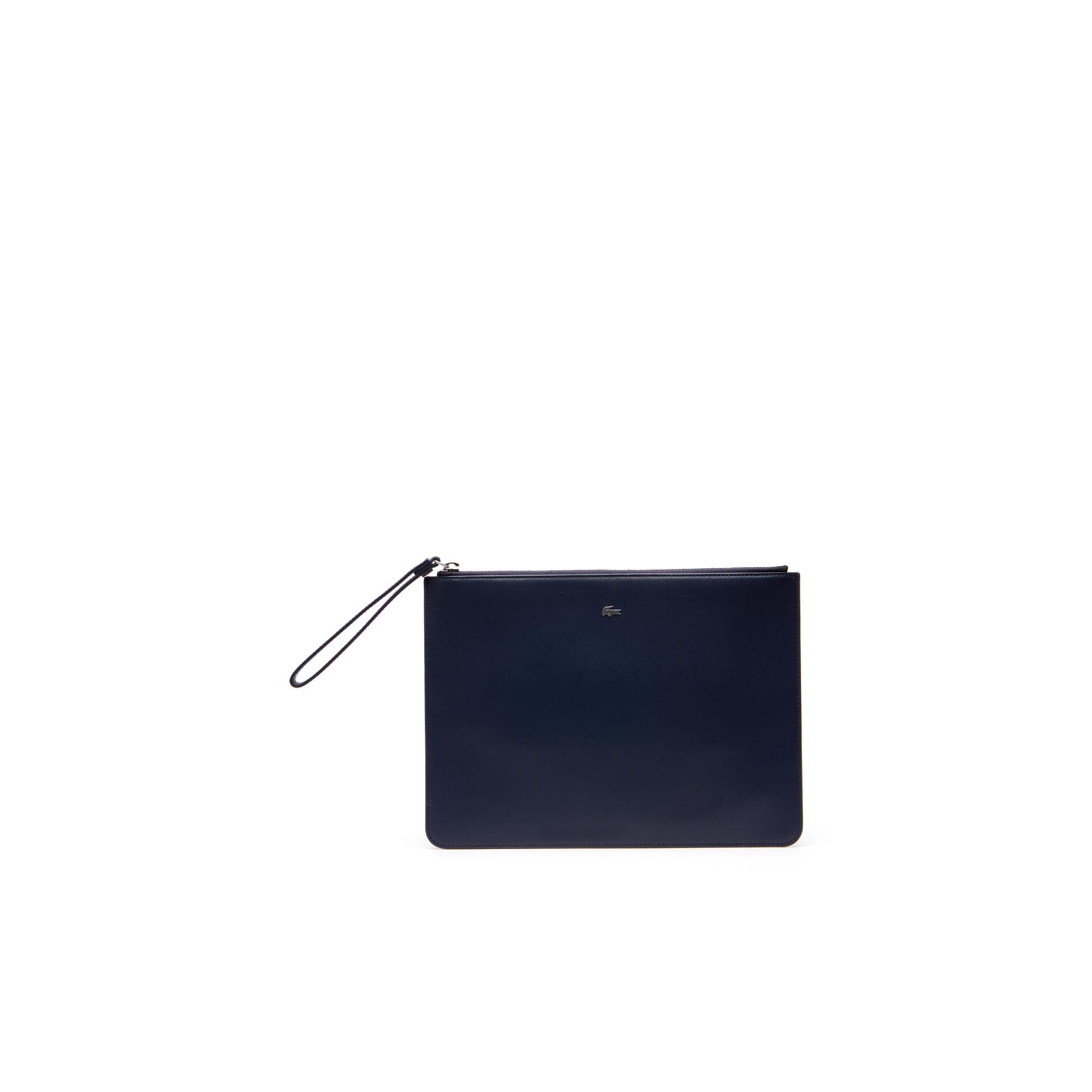 Pochette zippée Fitzgerald en cuir color block