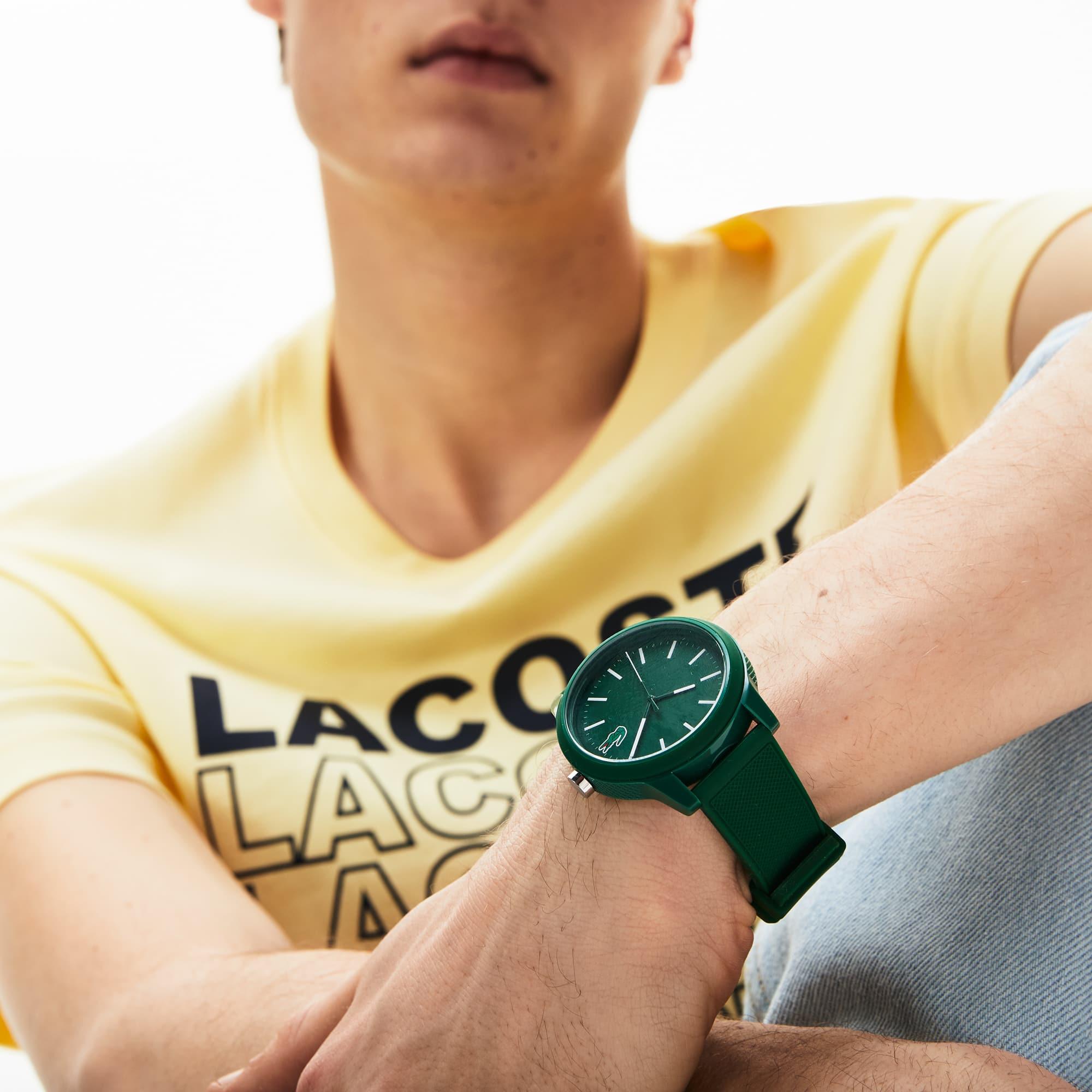 Vert Lacoste Silicone Montre Aiguilles Homme 12 3 Bracelet 12 Avec jLqSVGzUMp