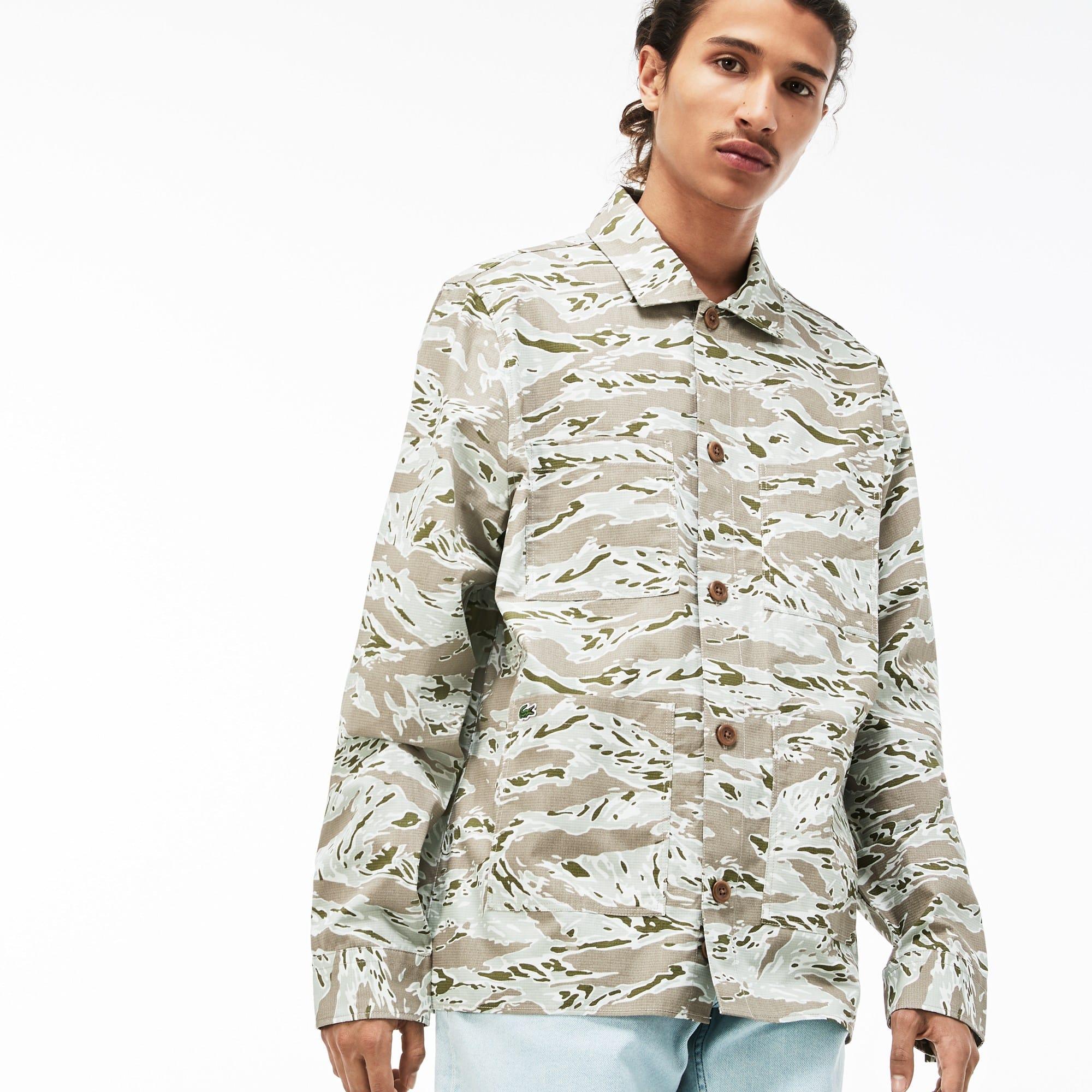 b71223039f Chemise Lacoste LIVE en coton imprimé camouflage   LACOSTE