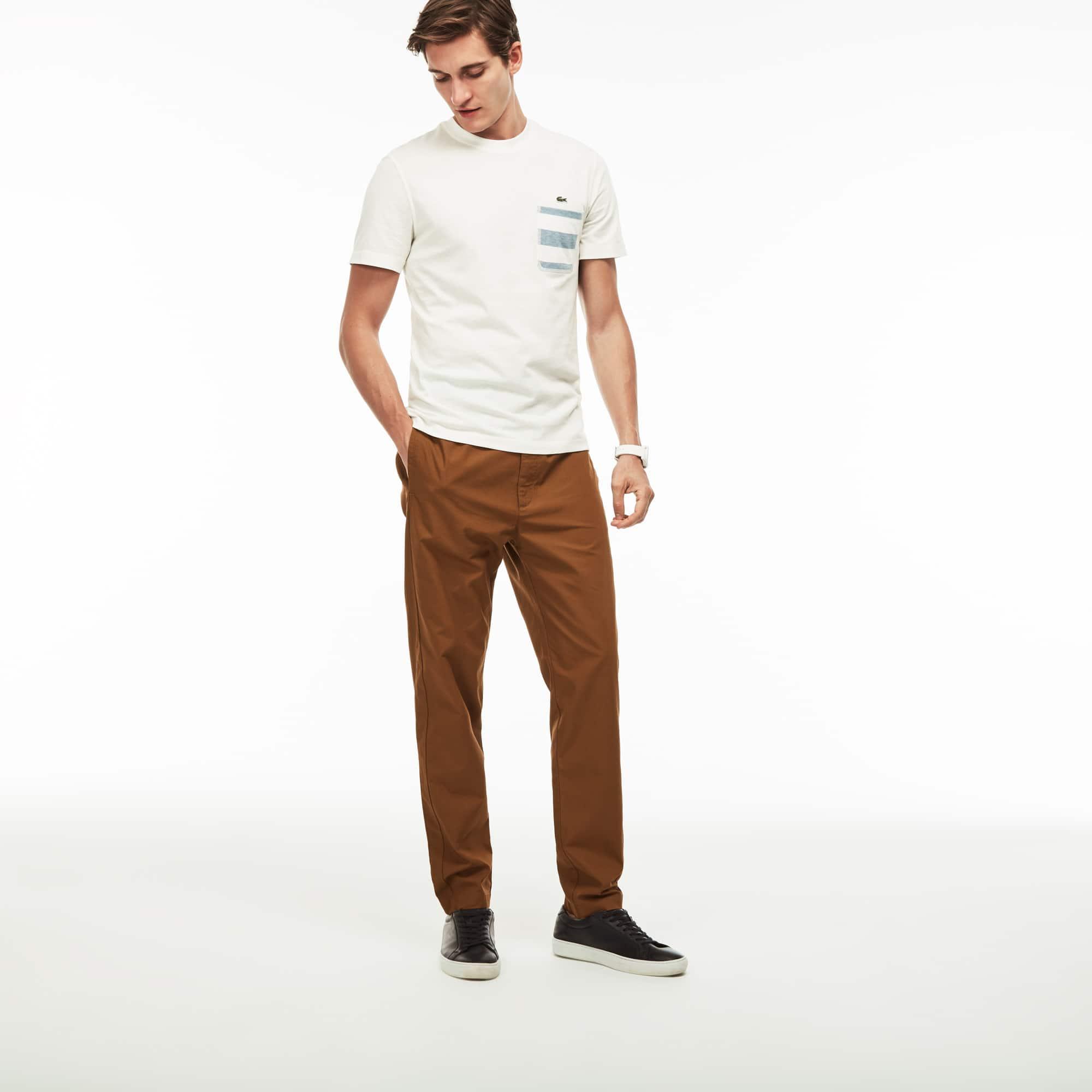 Pantalon en coton technique uni