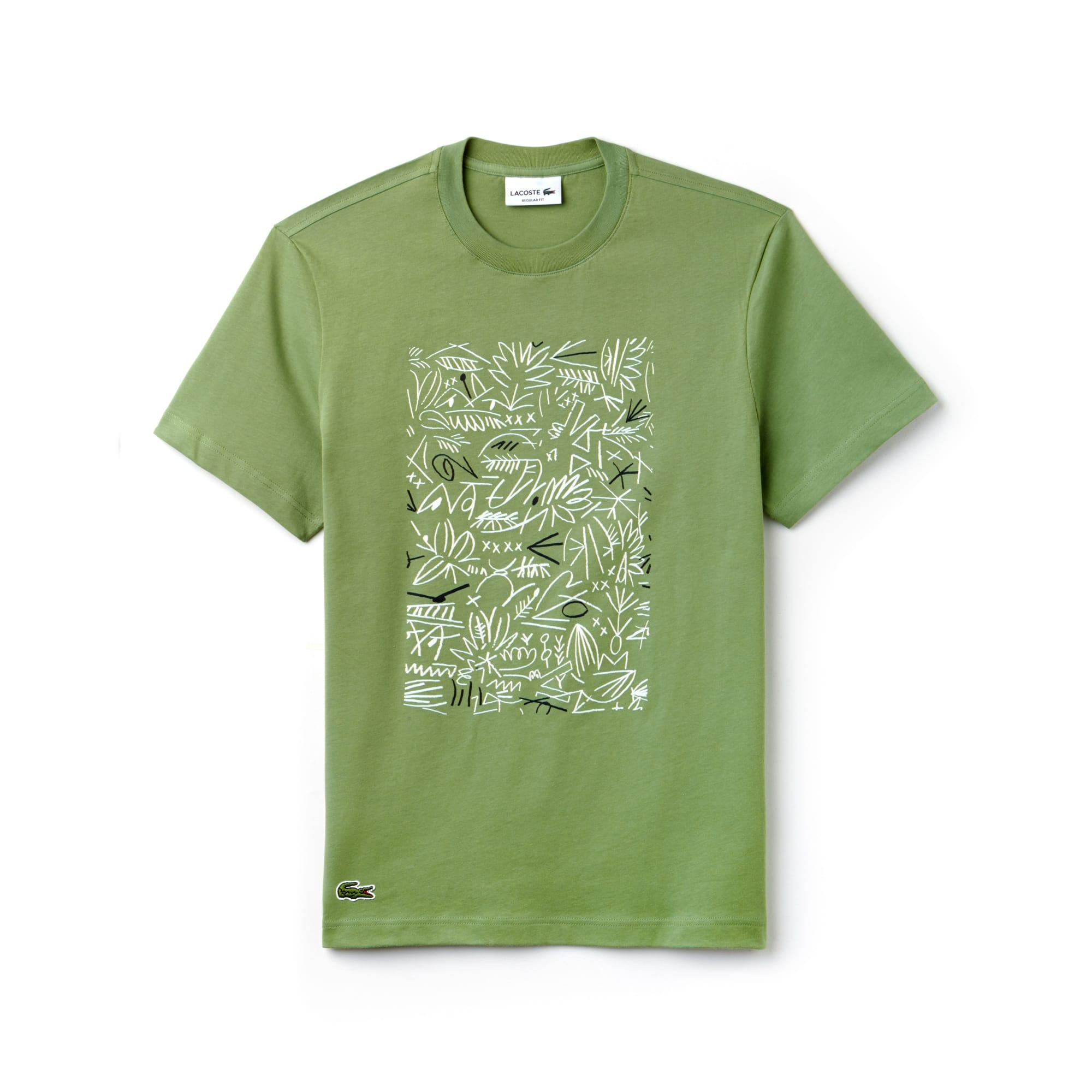 T-shirt col rond en jersey de coton avec imprimé