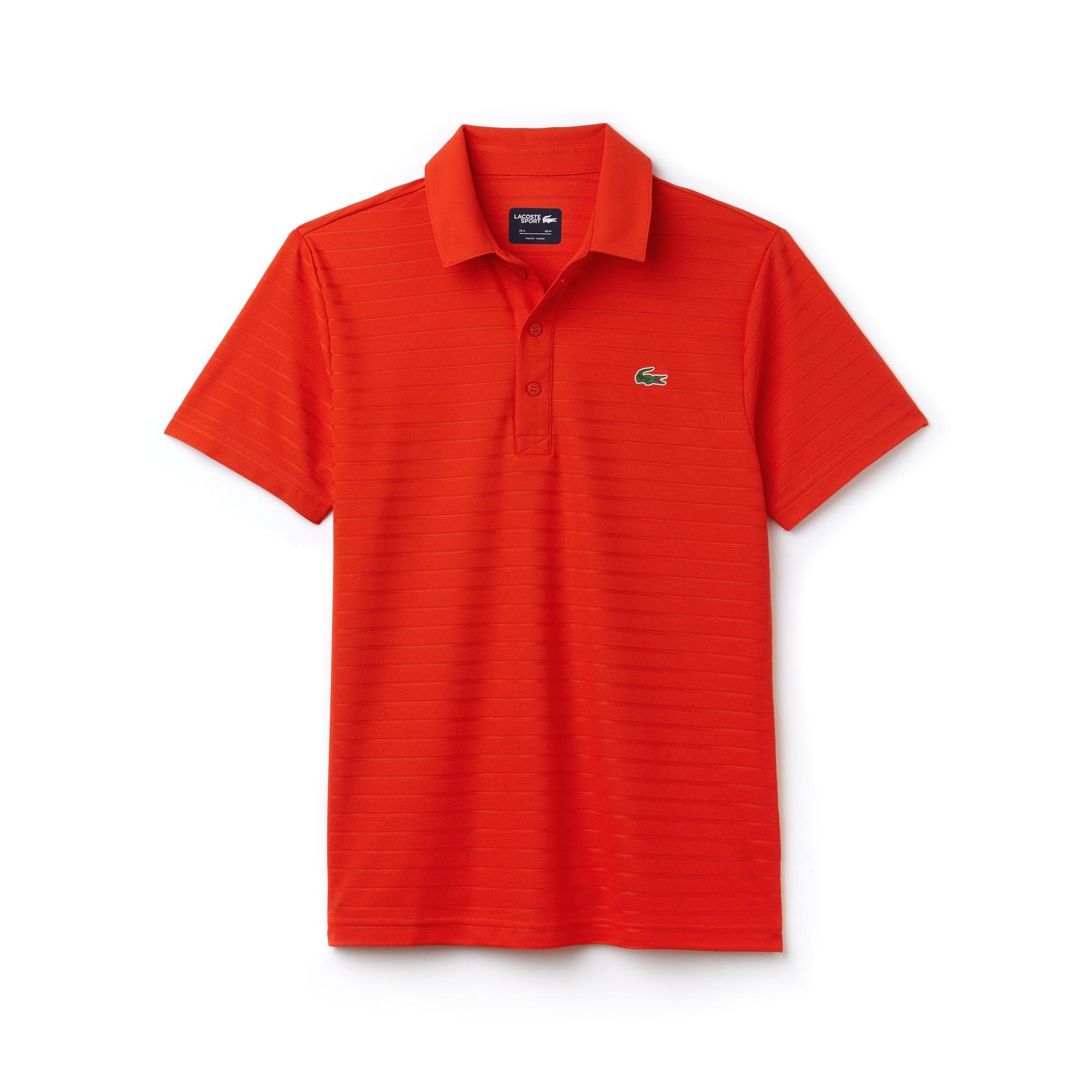 Polo Golf Lacoste SPORT regular fit en jersey jacquard technique rayé