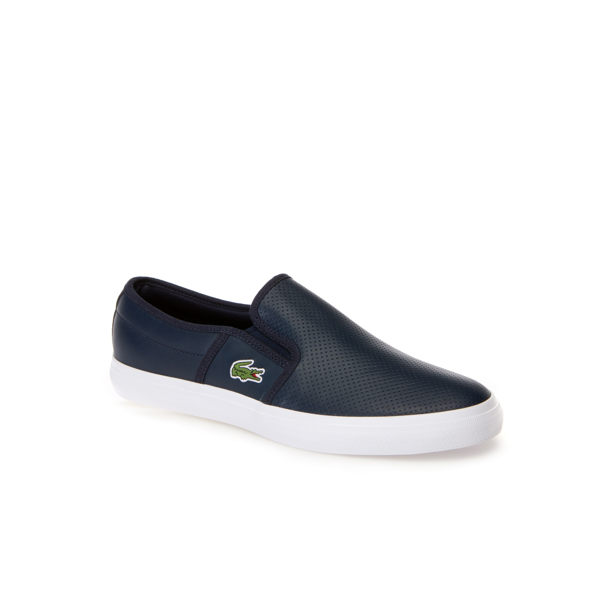 Slip-on Gazon en cuir uni