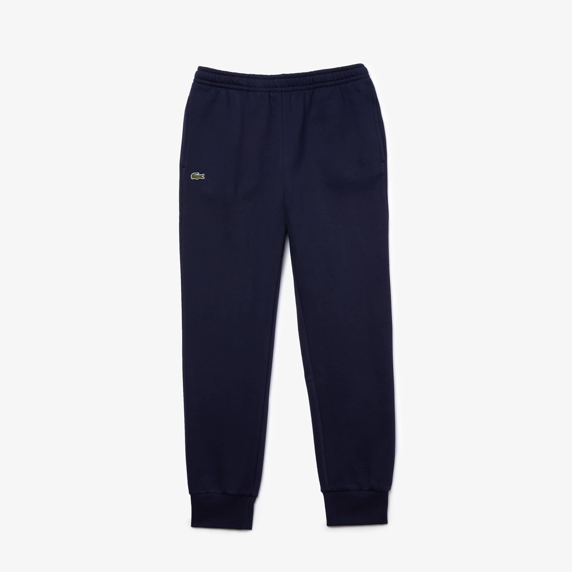 Pantalon de survêtement Tennis Lacoste SPORT en molleton de coton uni