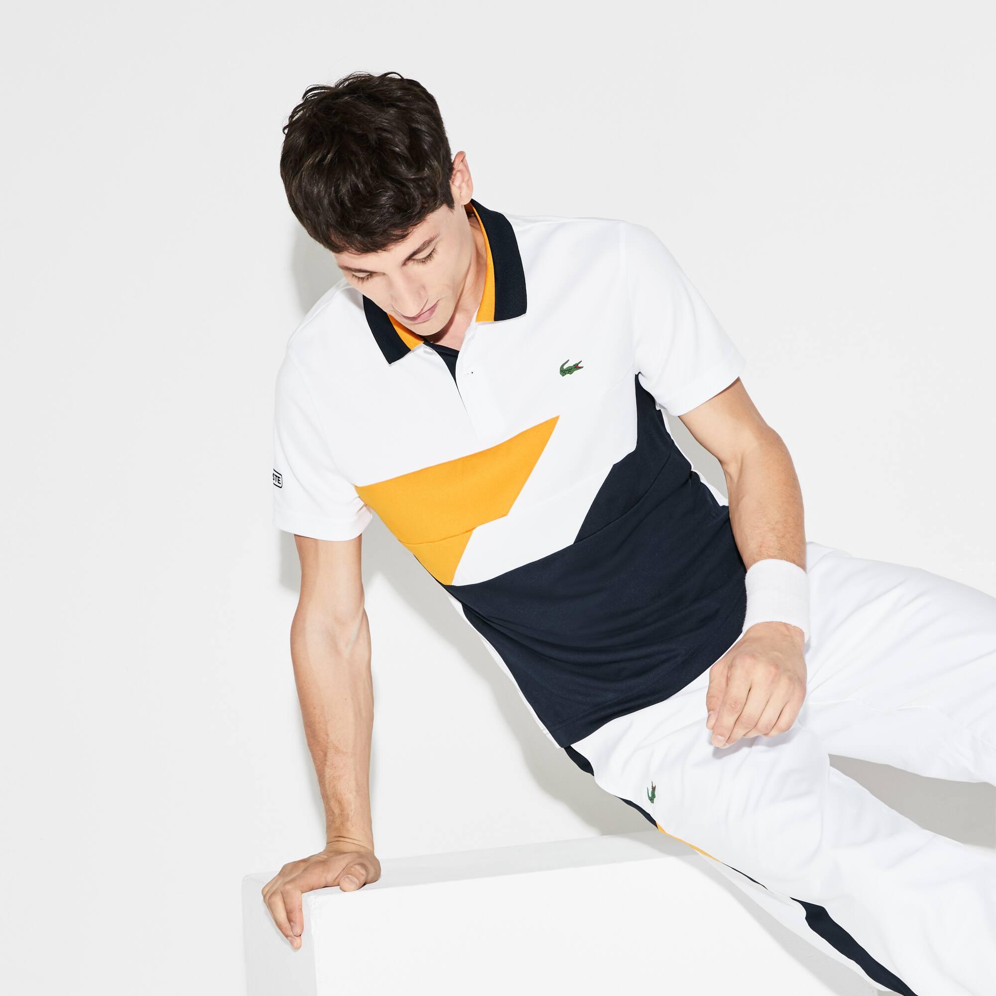 Polo Tennis Lacoste SPORT en piqué technique à bandes color block