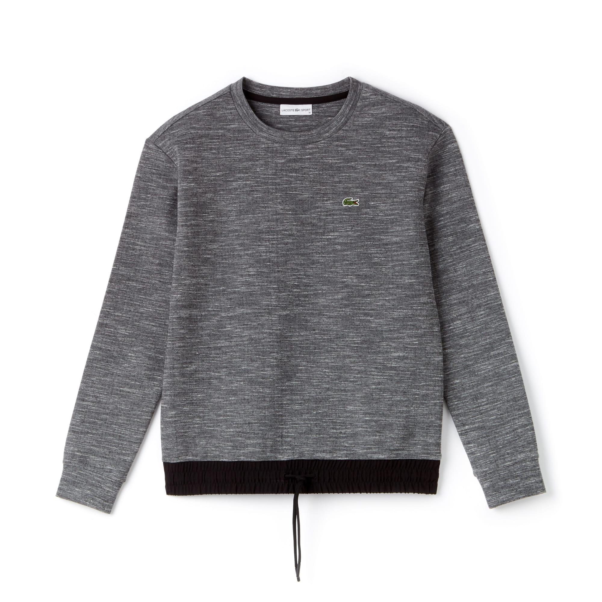 Sweatshirt col rond Tennis Lacoste SPORT en molleton et taffetas technique