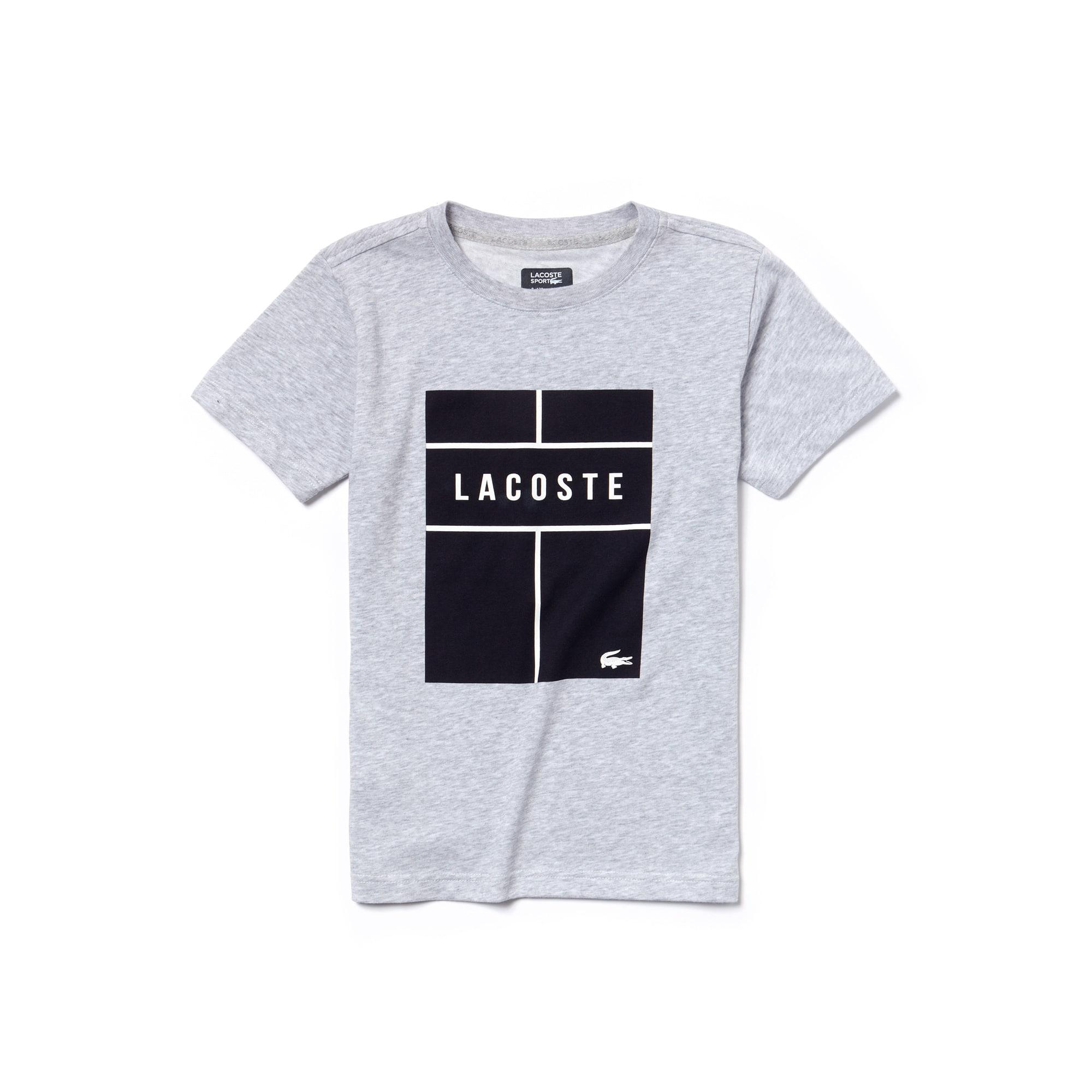 T-shirt Garçon Tennis Lacoste SPORT en jersey technique avec marquage