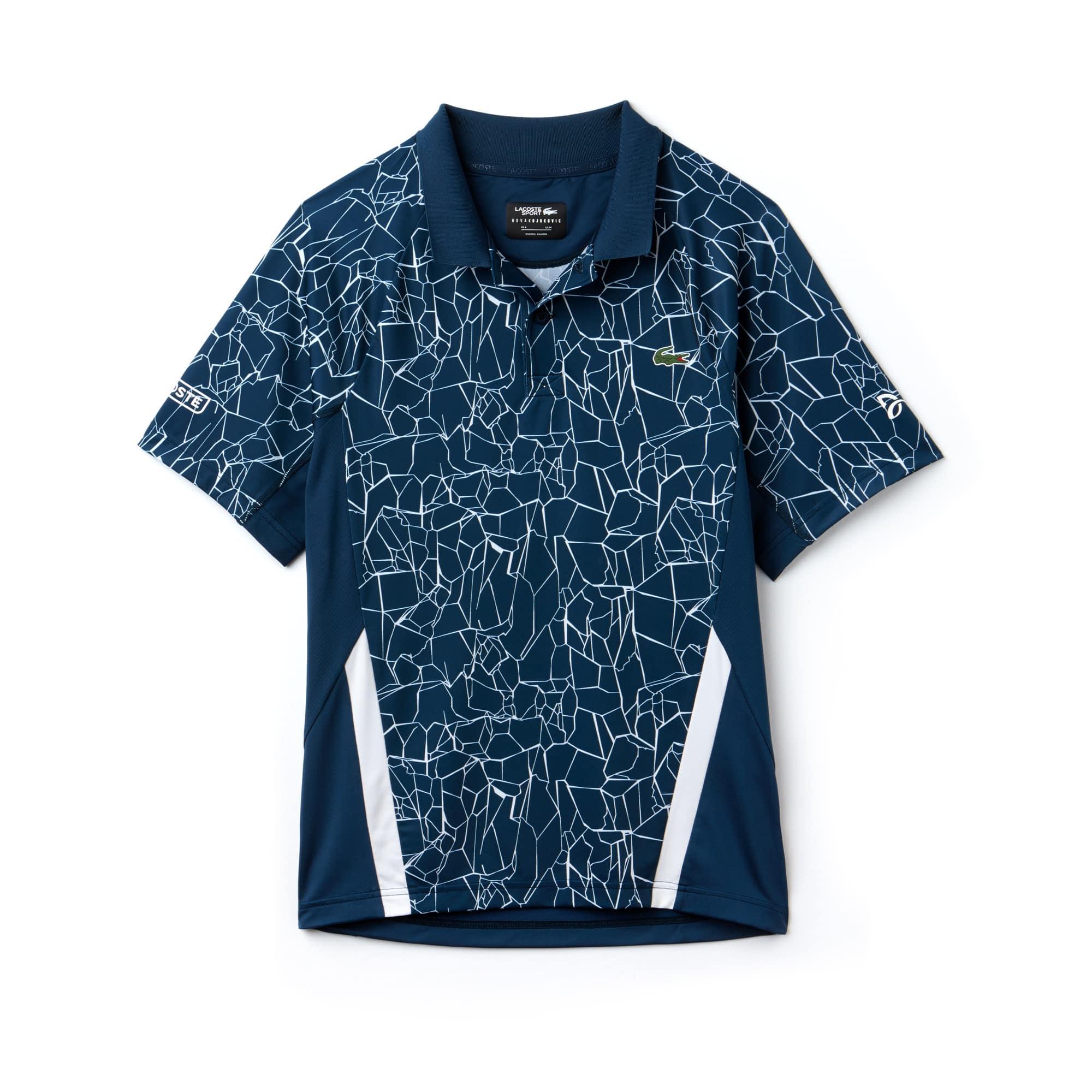 Polo Lacoste SPORT Collection Novak Djokovic - On Court en jersey technique imprimé