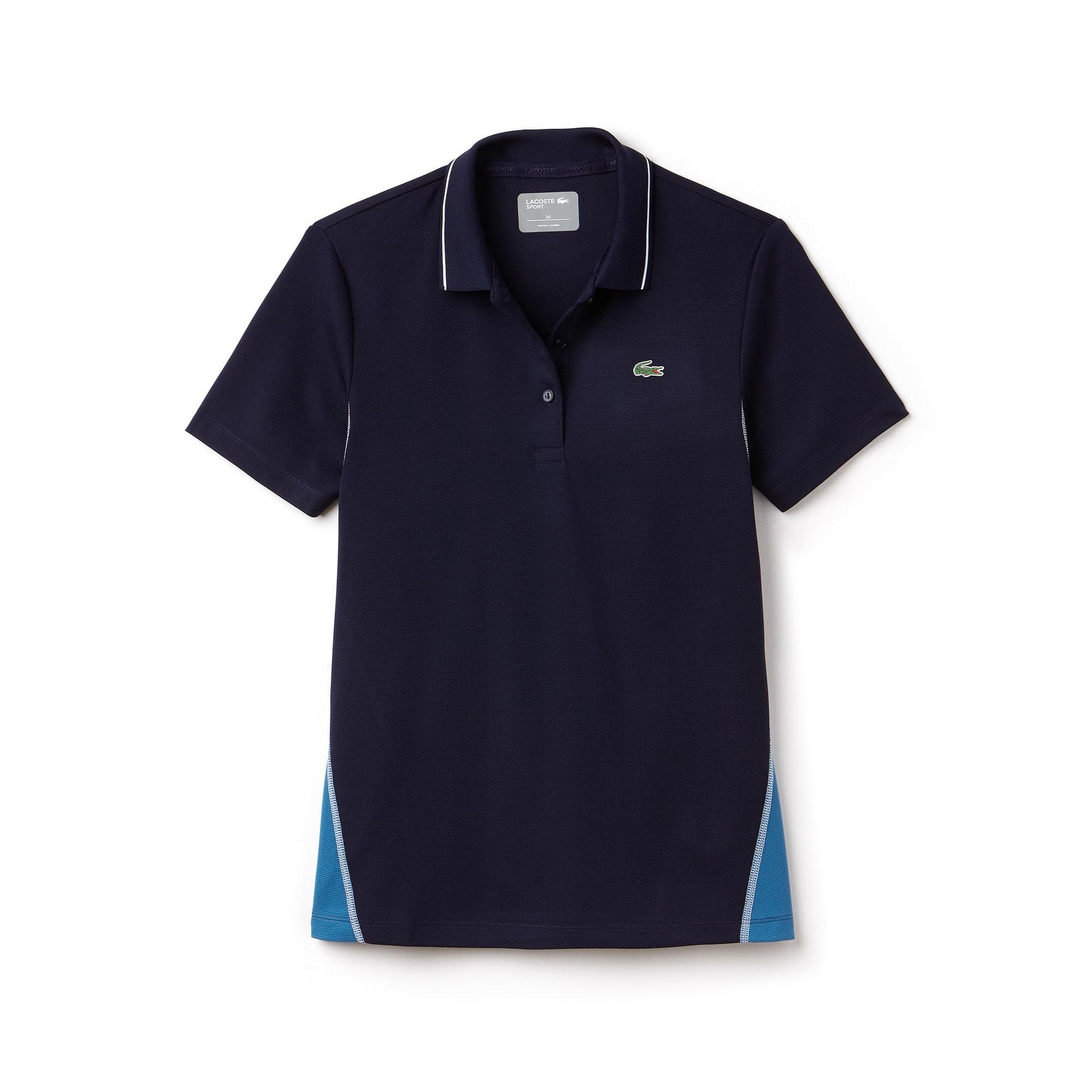 Polo Golf Lacoste SPORT en maille de coton technique bicolore