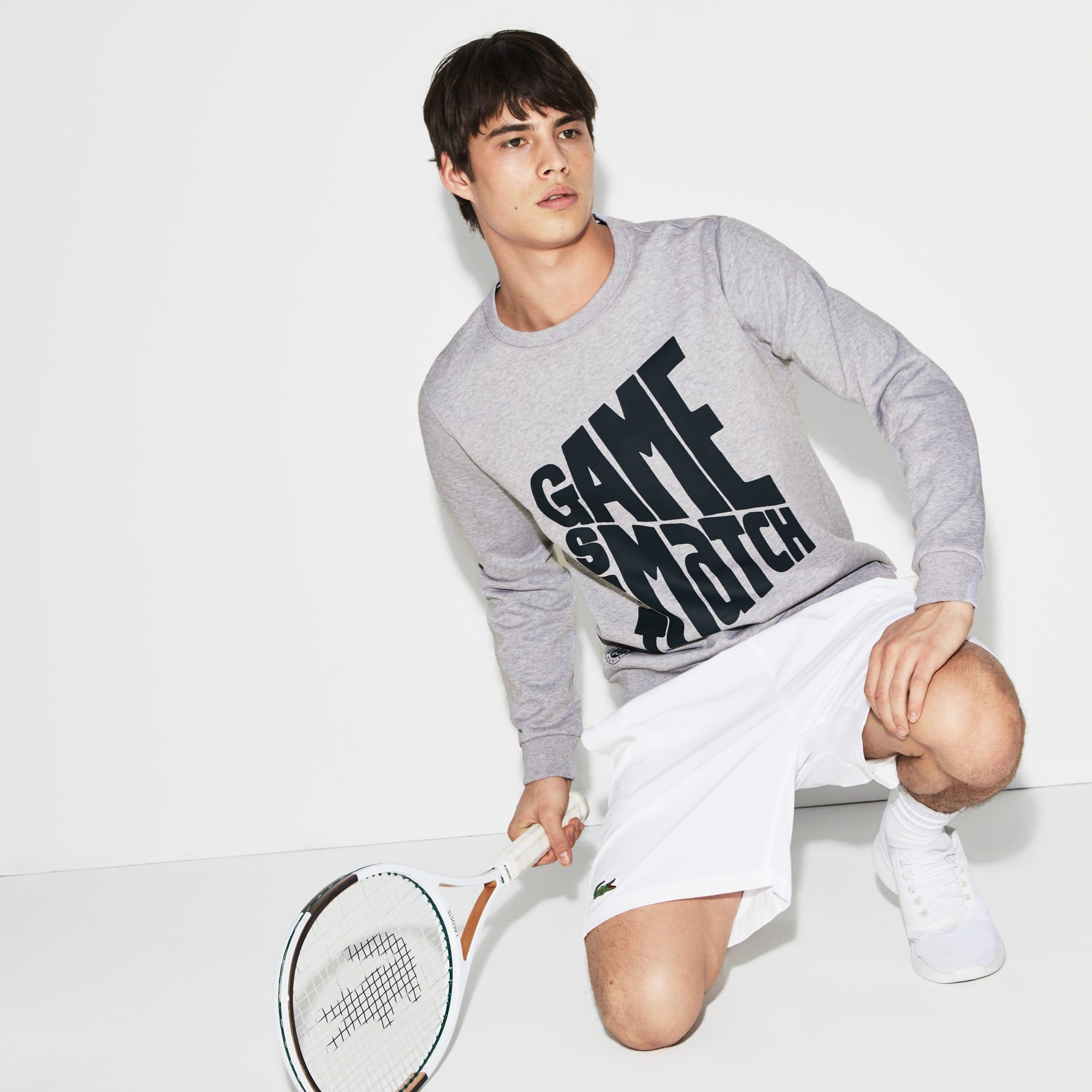 Sweatshirt Lacoste SPORT en molleton avec marquage Édition Roland Garros