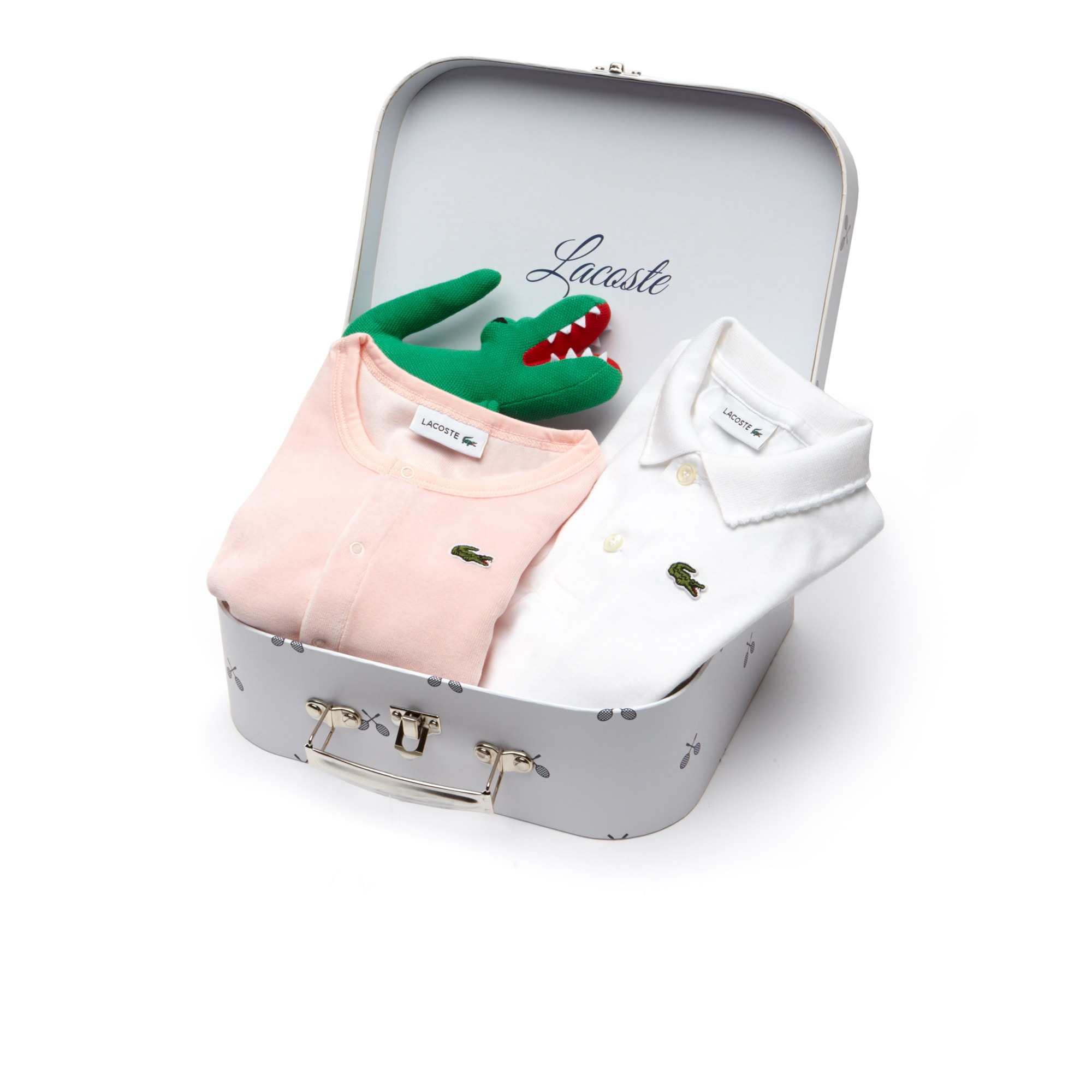 Coffret cadeau Garçon polo et cardigan en jersey de coton uni