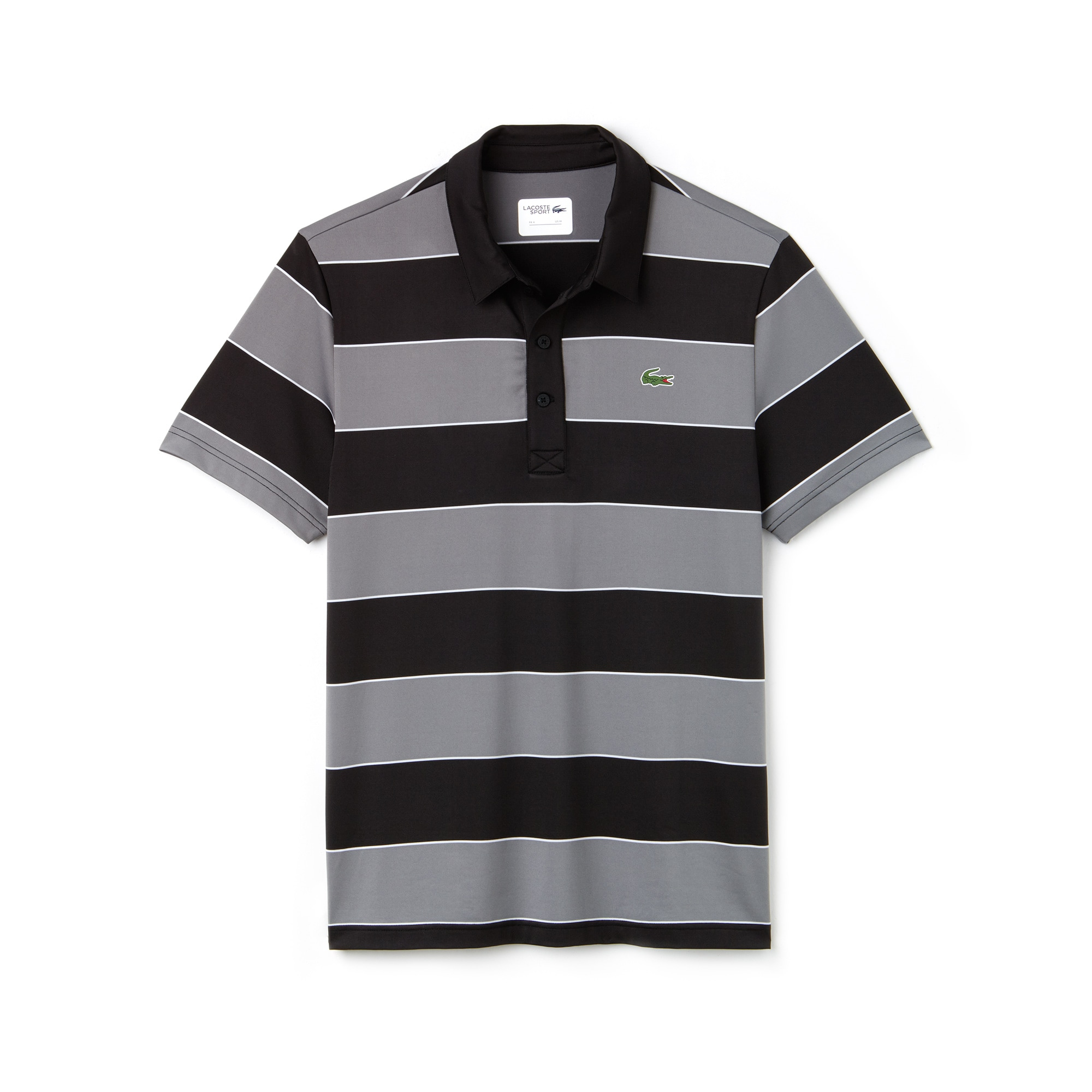 Polo Golf Lacoste SPORT en jersey stretch technique rayé