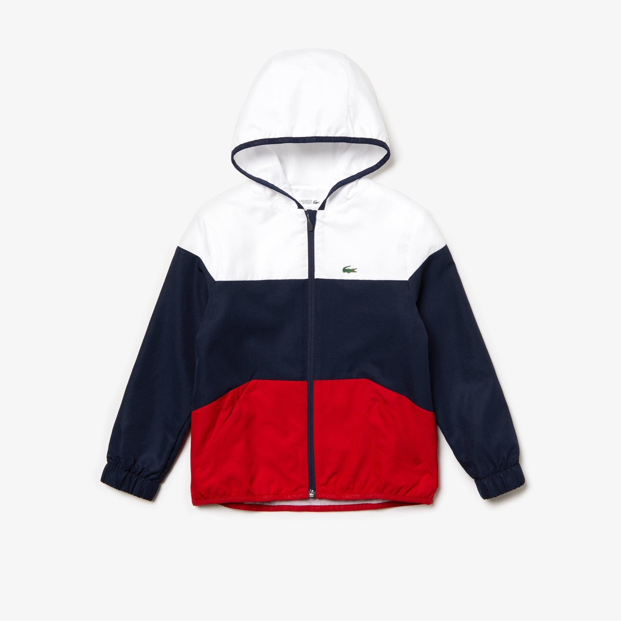 1ddc695566 Veste zippée à capuche Garçon Tennis Lacoste SPORT color-block | LACOSTE