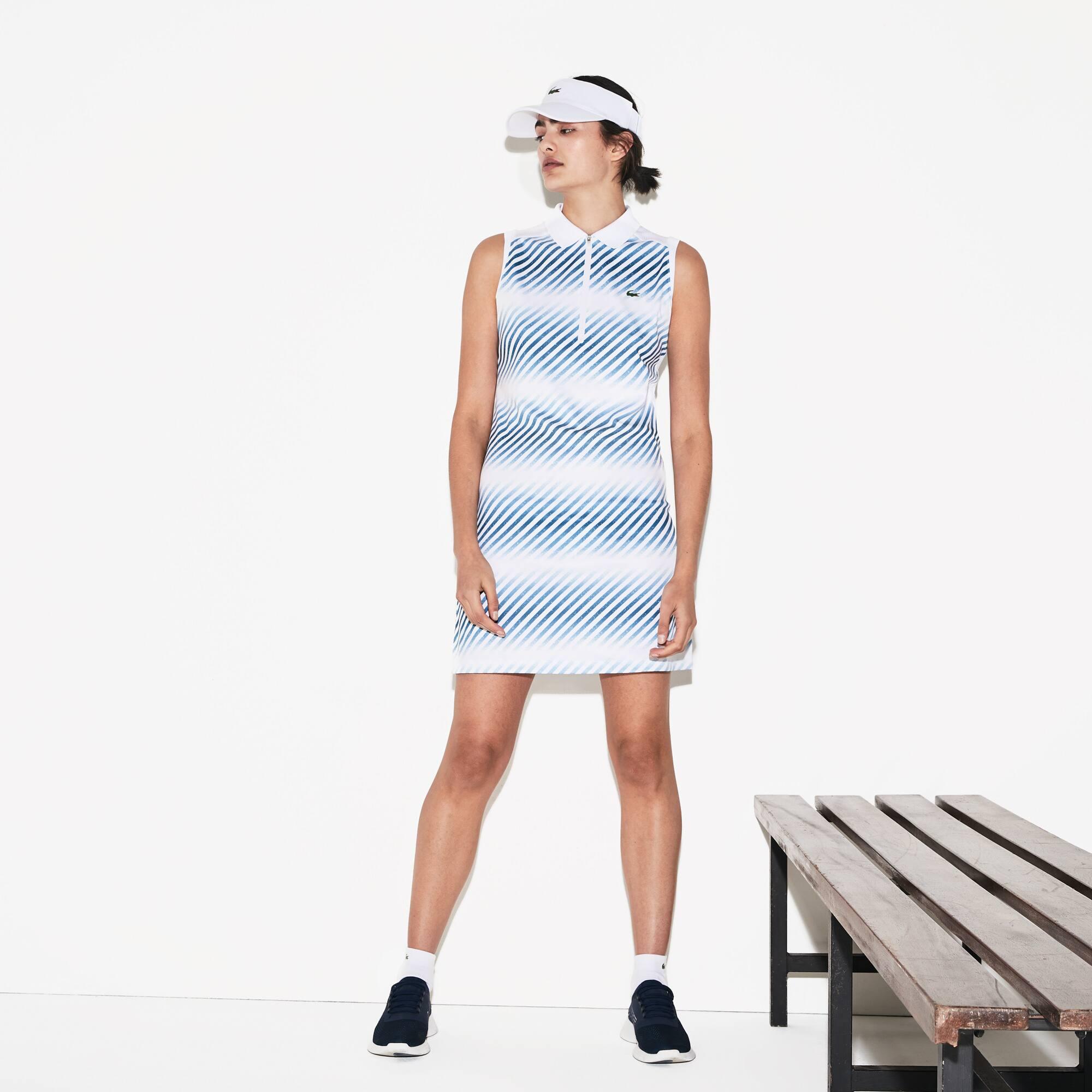 Dry Ultra Piqué Rayé Tennis Sport En Manches Robe Sans Lacoste Polo DE2IH9