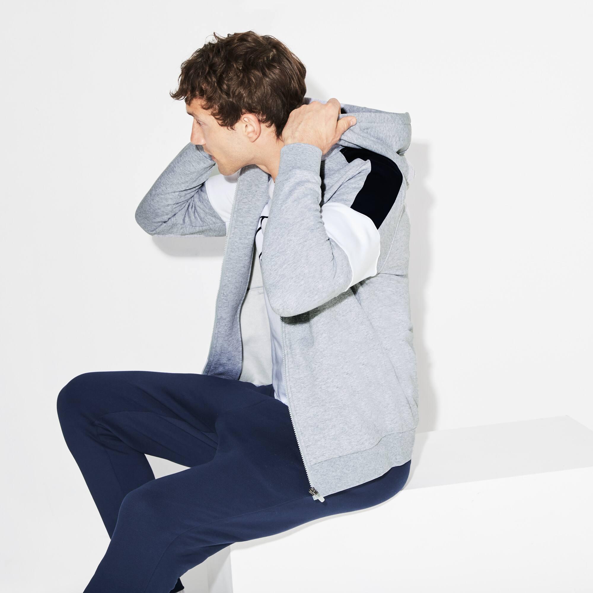 Sweatshirt zippé Tennis Lacoste SPORT en molleton color block