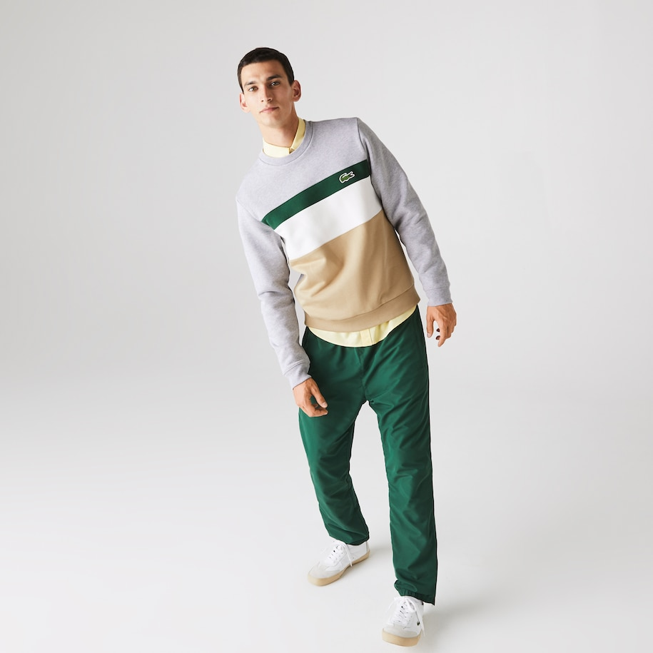 Herren Sweatshirt aus Fleece mit Colourblock