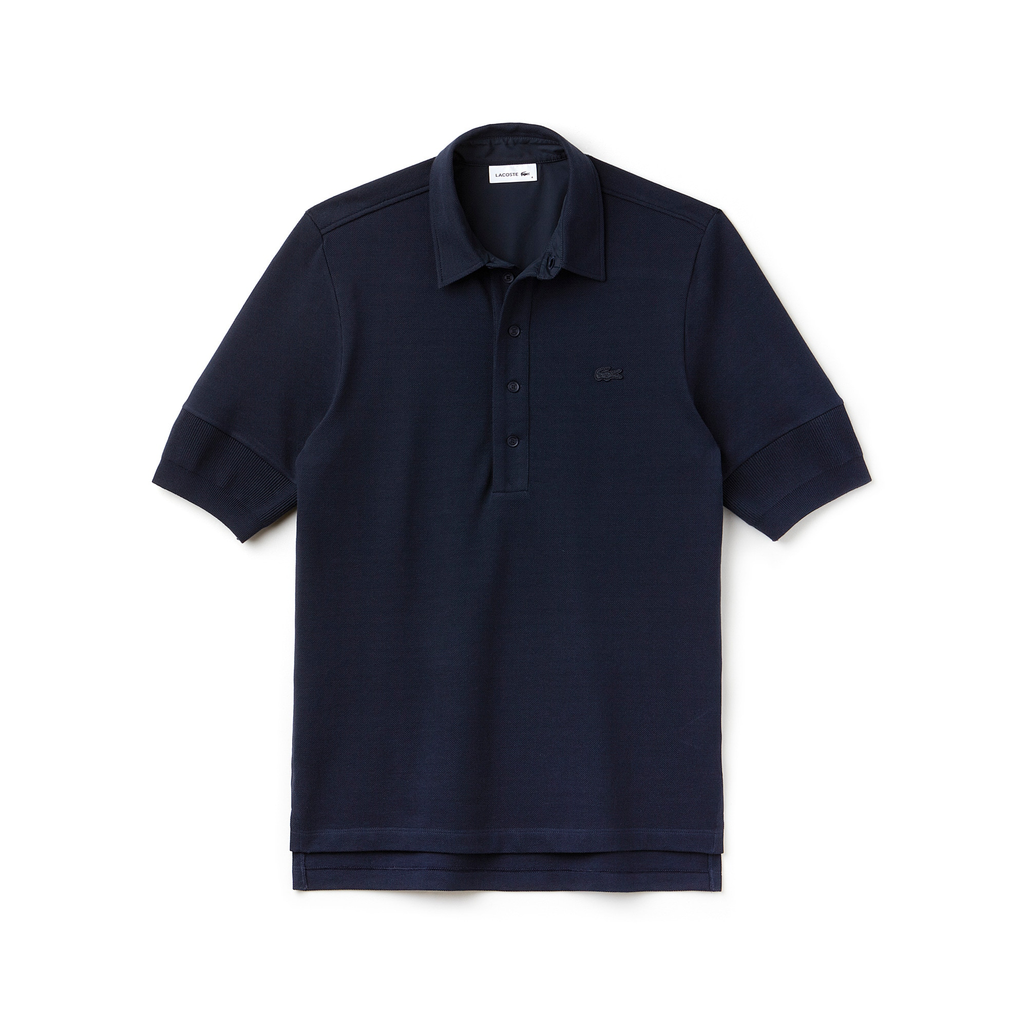 MEN'S LACOSTE FASHION SHOW Angerautes Poloshirt aus Baumwollpiqué