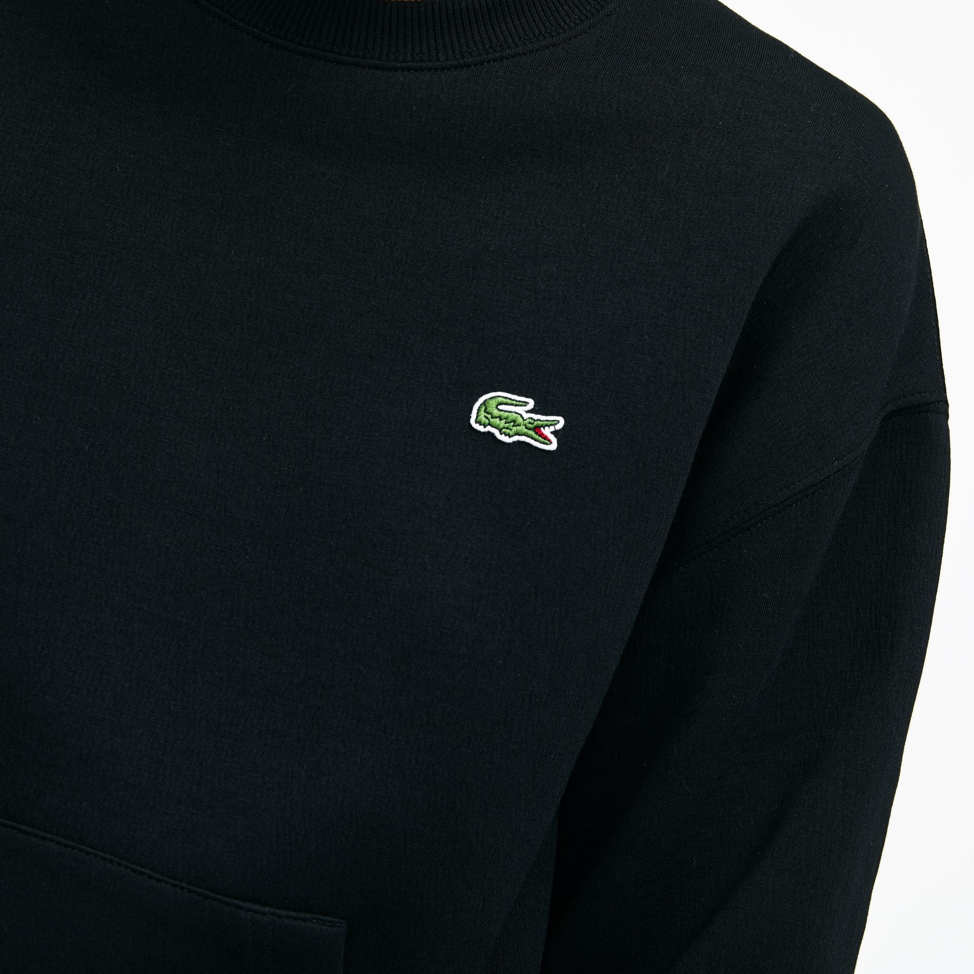 Lacoste - LACOSTE L!VE Rundhals-Sweatshirt mit Stickerei - 6