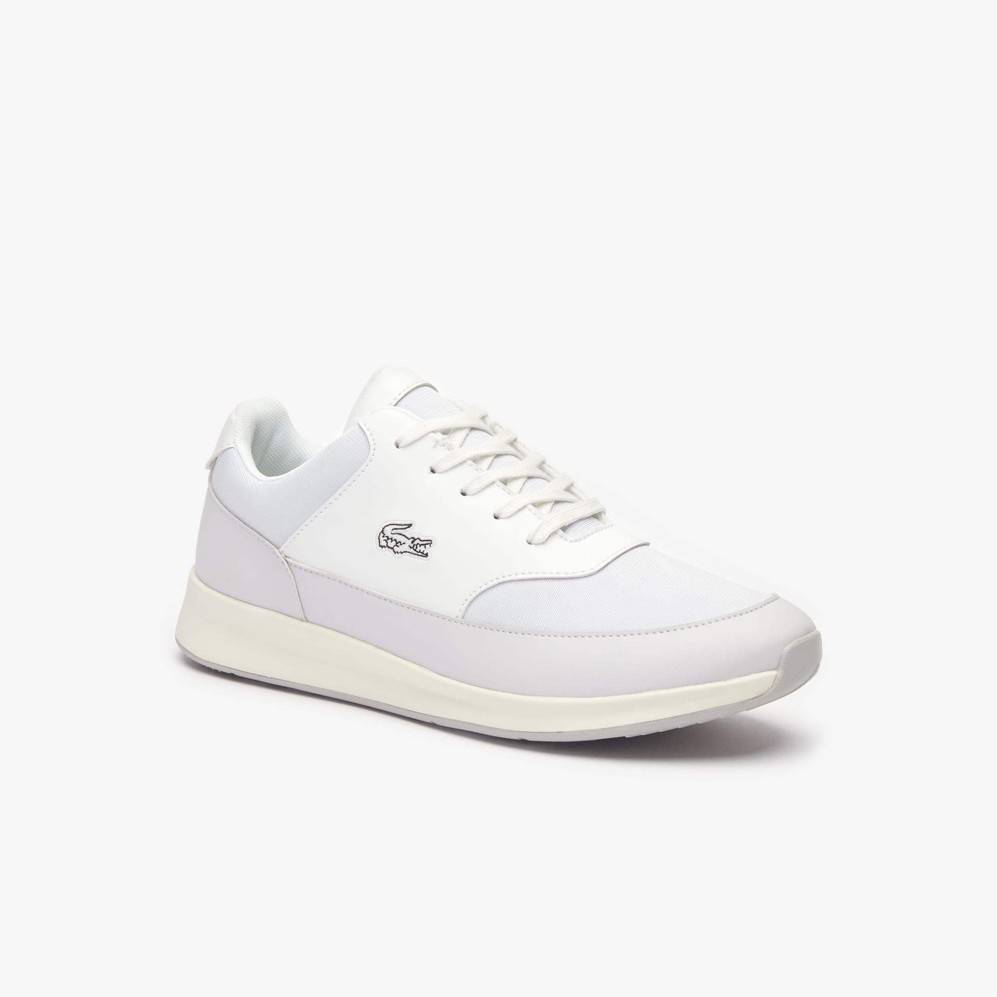 Lacoste Damen-sneakers Chaumont Aus Stoff - Off Wht/lt Gry Size 39