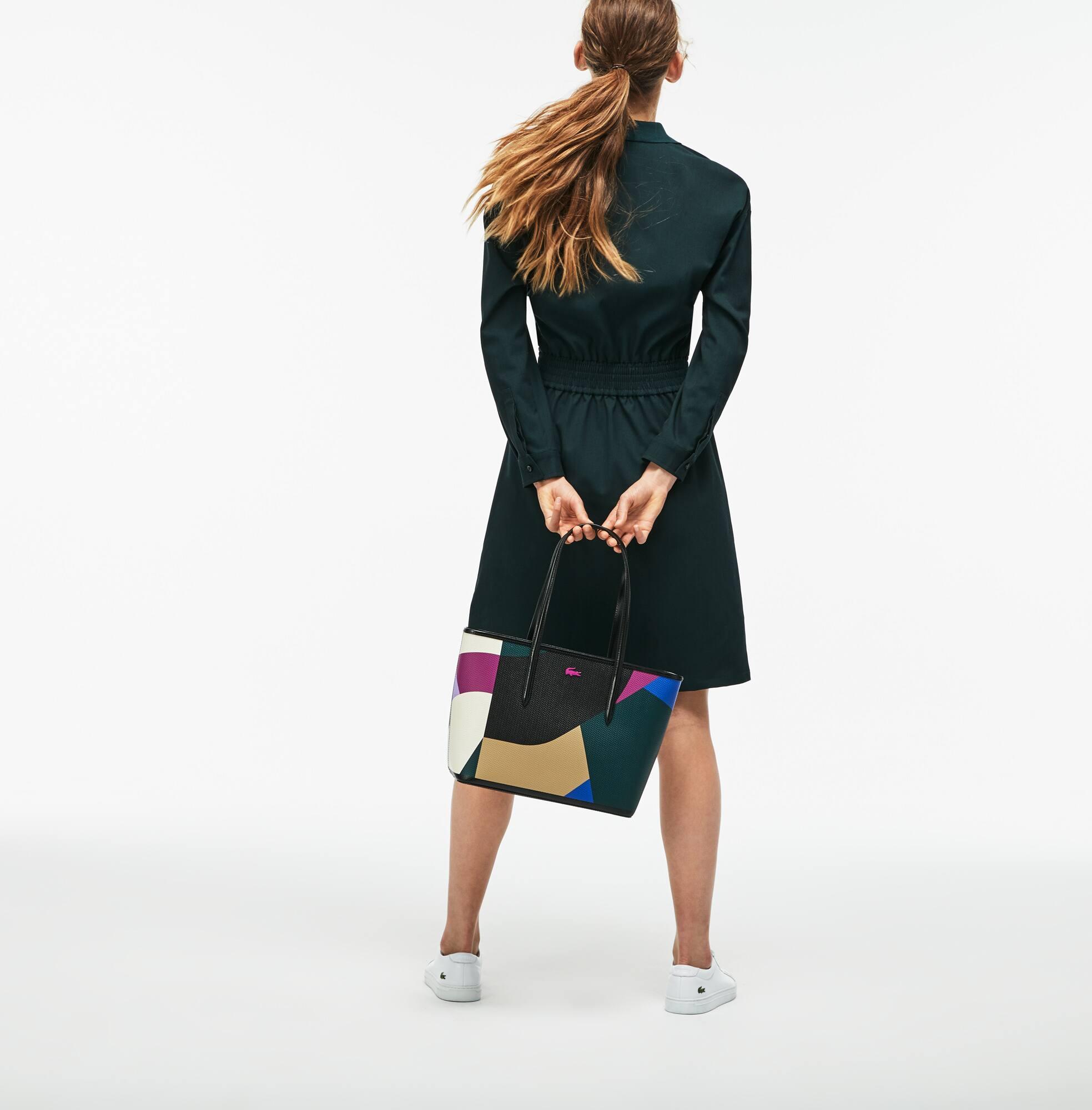 Damen CHANTACO Tote Bag mit Colorblock-Print