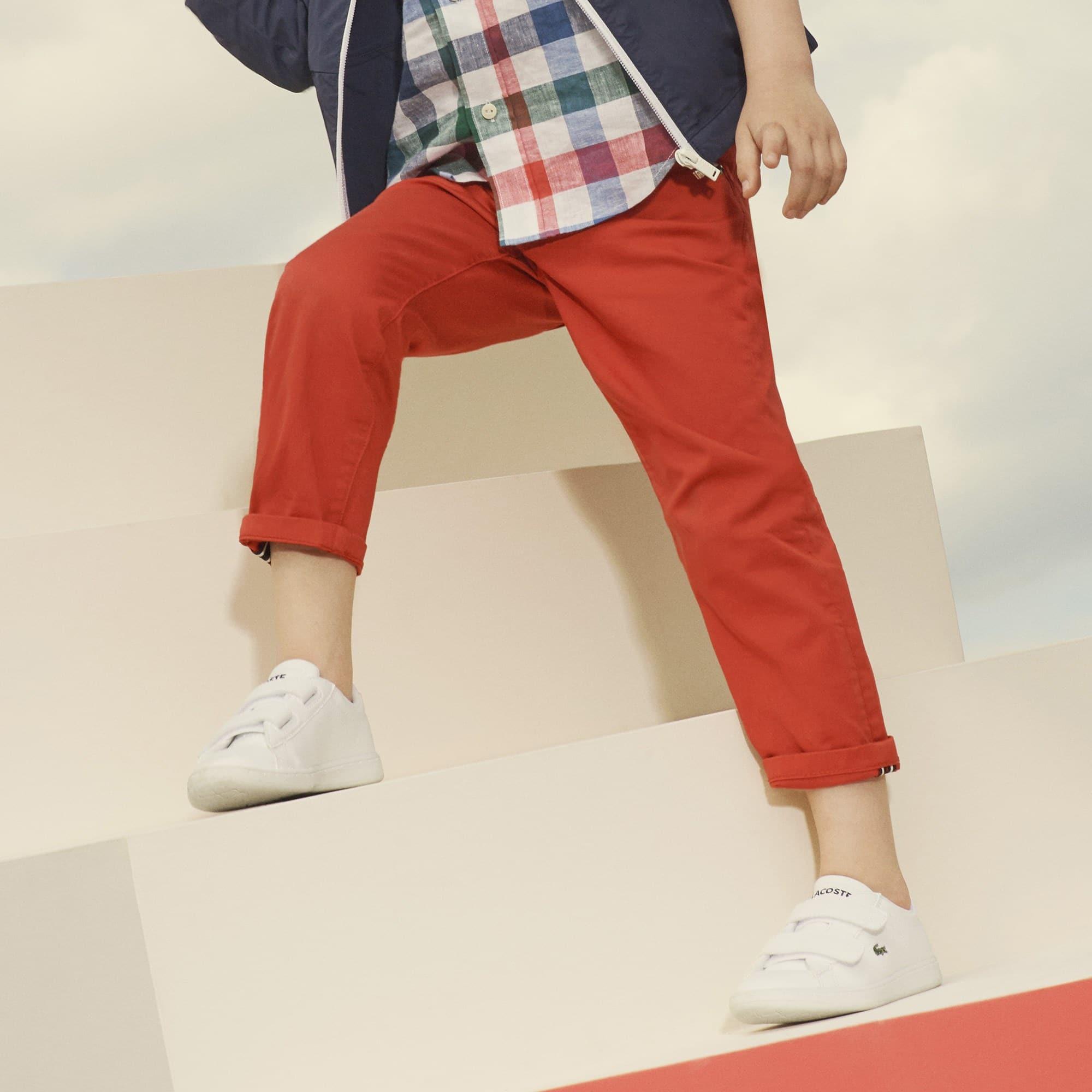 Jungen-Hose aus Stretch-Gabardine mit 5 Taschen